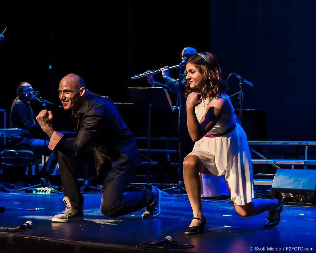 Michael Feigenbaum did amazing work with dance & beat boxing. Here he is with Olivia Politi