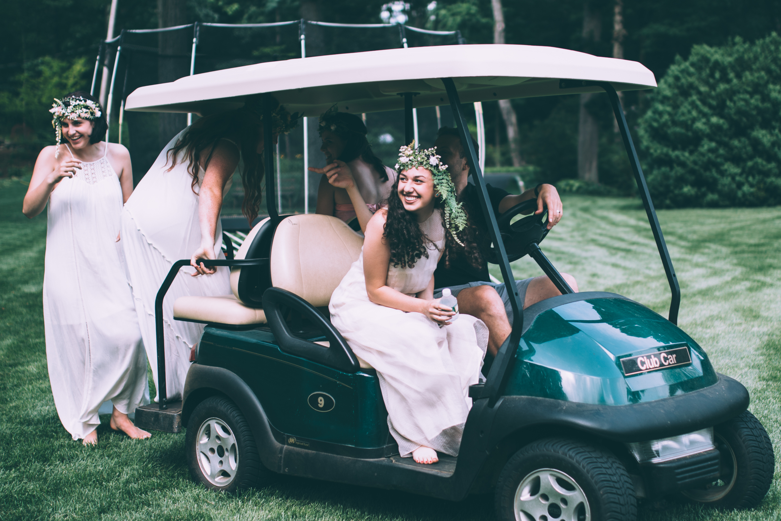 We traveled everywhere in Michael's golf carts