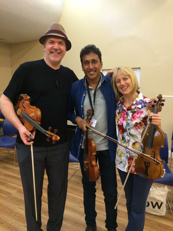 With Mark O'Connor, and an absolutely incredible violinist/film composer from Sri Lanka: Dinesh Subasinghe