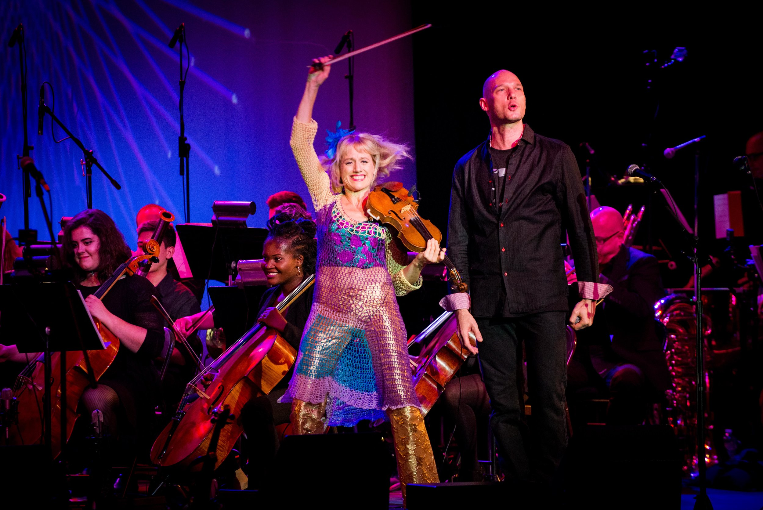 Featuring Michael Feigenbaum (beat boxing) and Patrice Jackson-Tilghman (lead cellist), who rocked the house