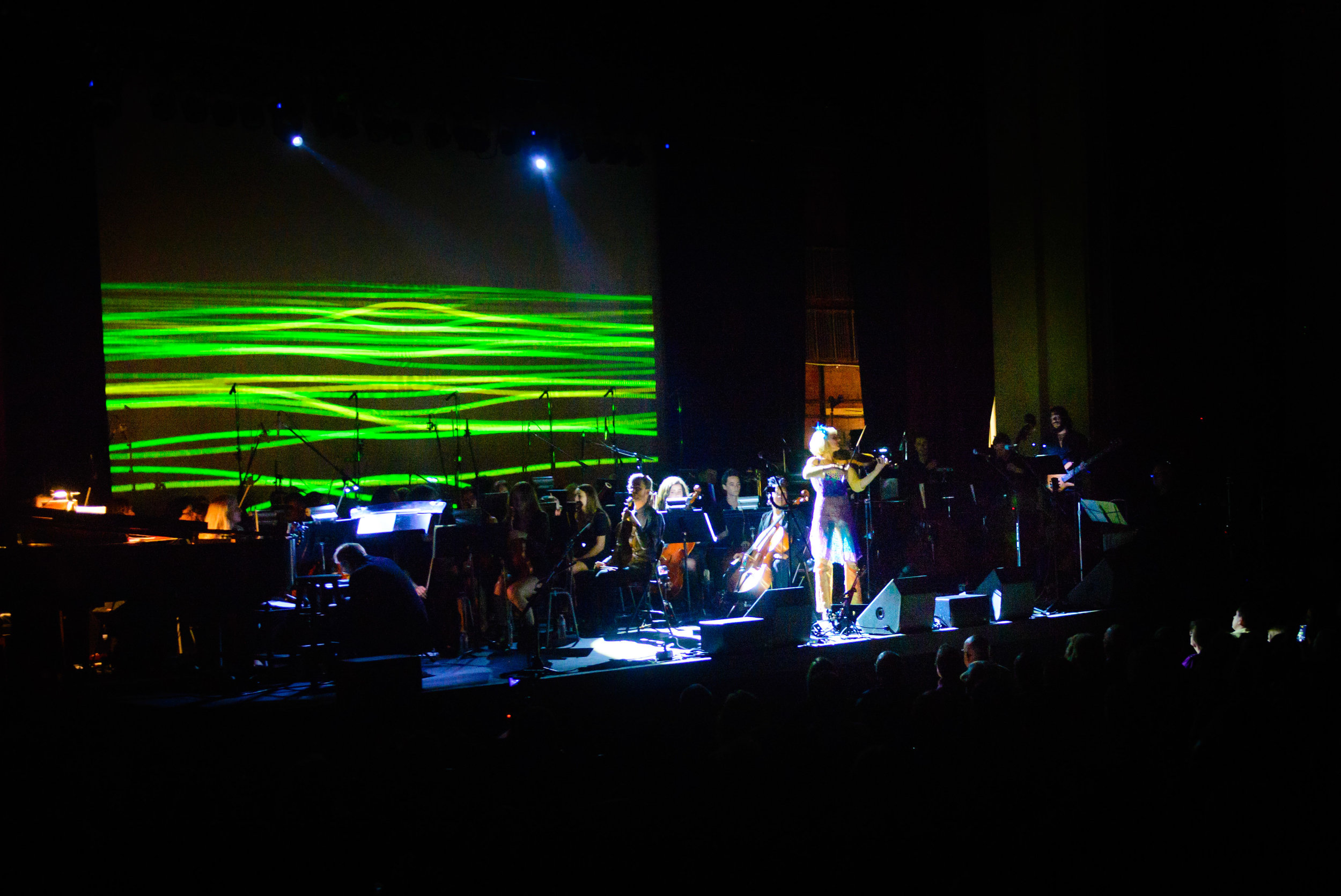 Thank you to Ro-z Edelston and Joshua DeLorimier for exceptional lighting and projections throughout the show