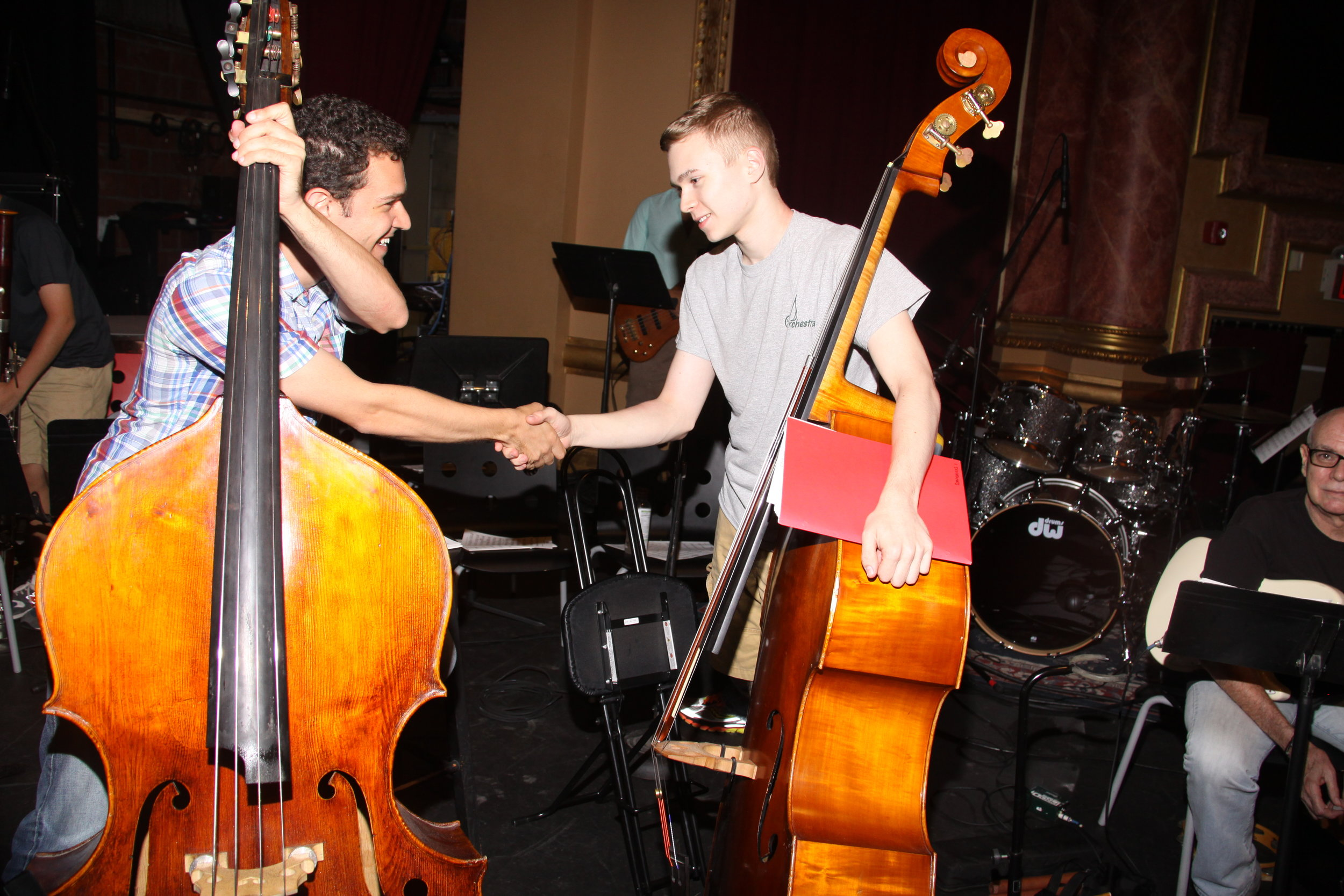 GMAO Double Bass Mentor & Student Photo no 2, Photo Credit: Andrew Stein