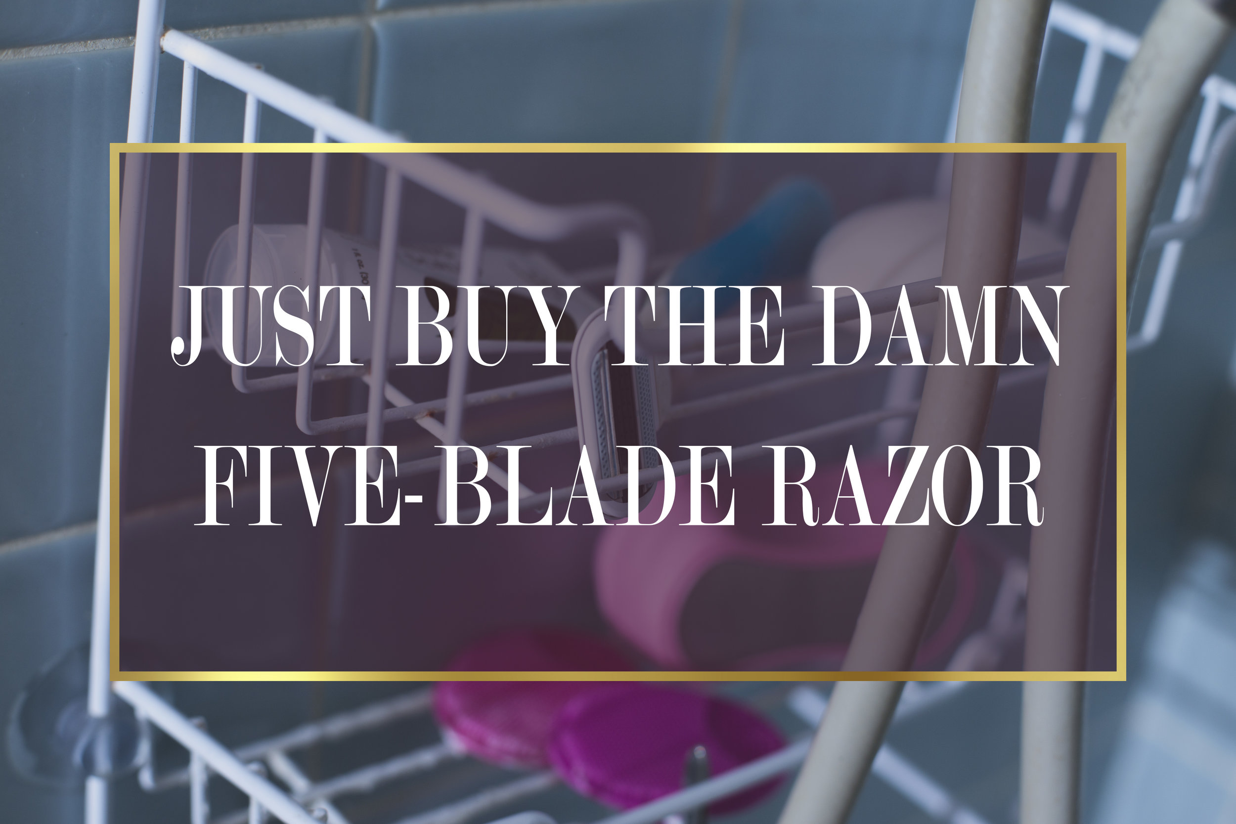 Just Buy the Damn Five Blade Razor.🔪🔪🔪🔪🔪