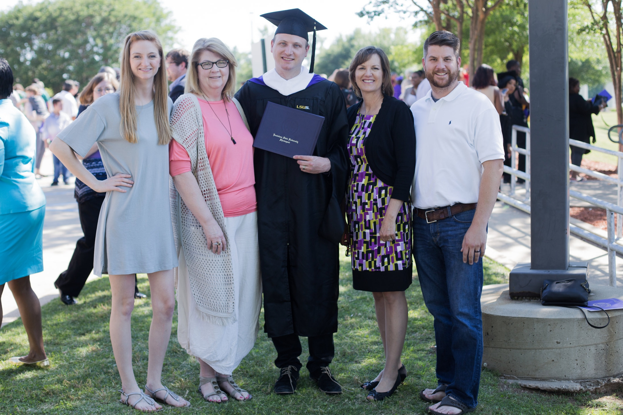 LSUS Grads - All the LSUS Graduates in both our families (the ones that were present at least.)