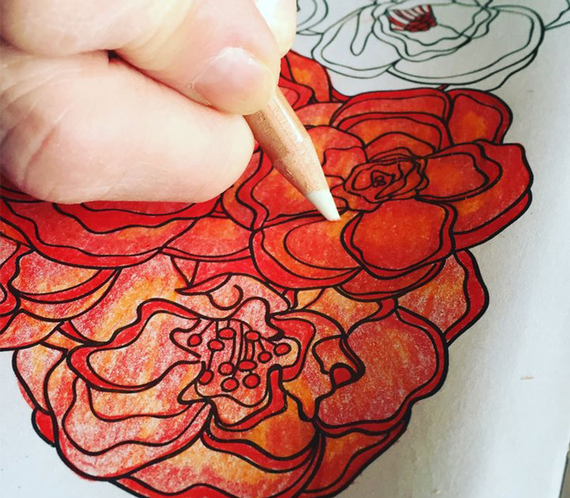 Learning coloring techniques for relaxation.