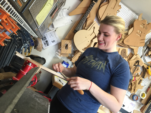 Kate designed her own guitar, built it, and kicked ass during the process.. be like kate.