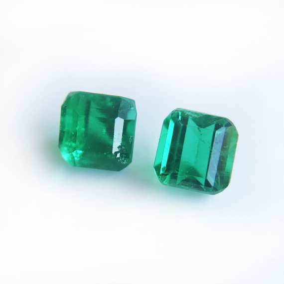 Colombian Emeralds for a pair of earring studs