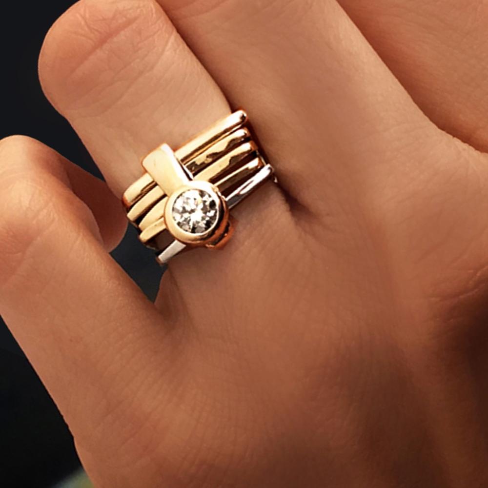 Firenze Diamond Ring Bezel Setting