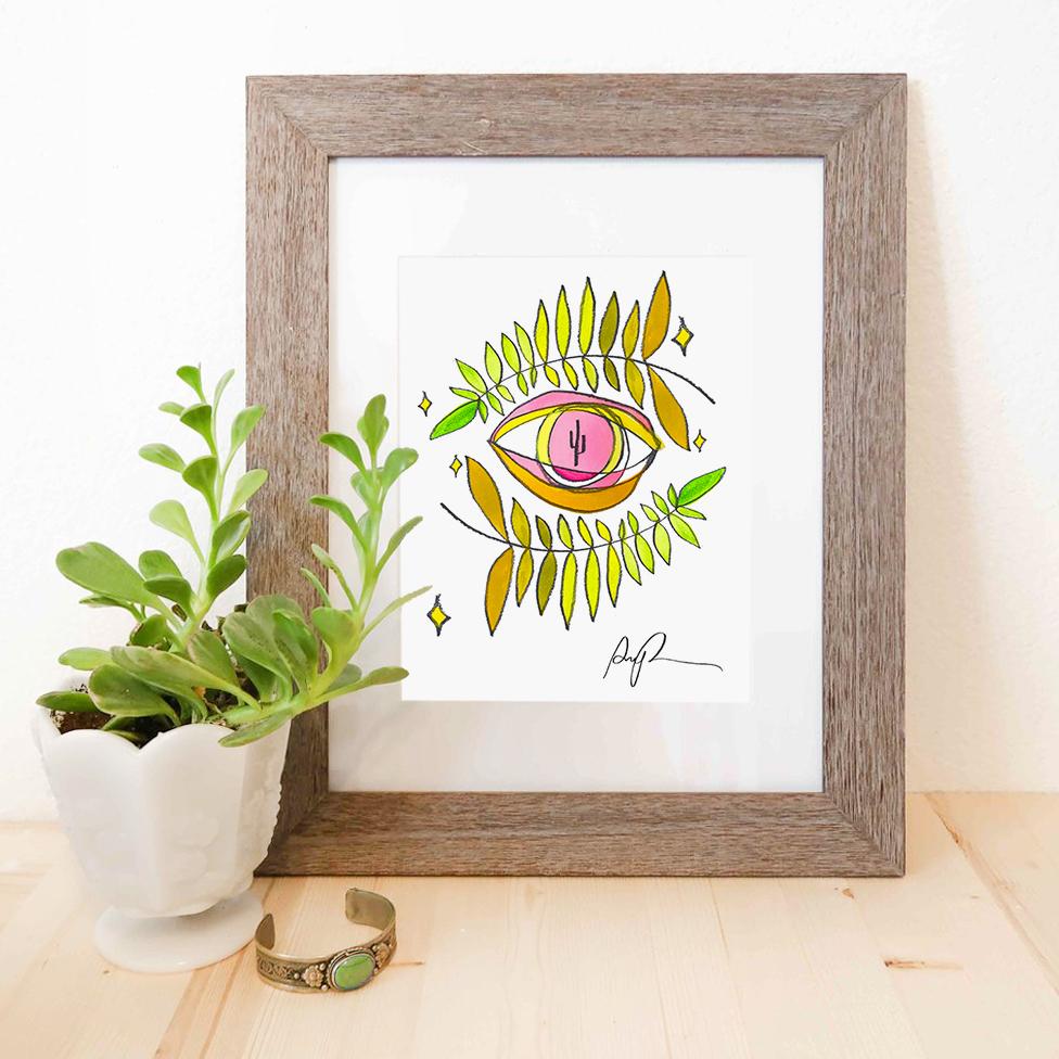 eye art print desert arizona artist - paige poppe