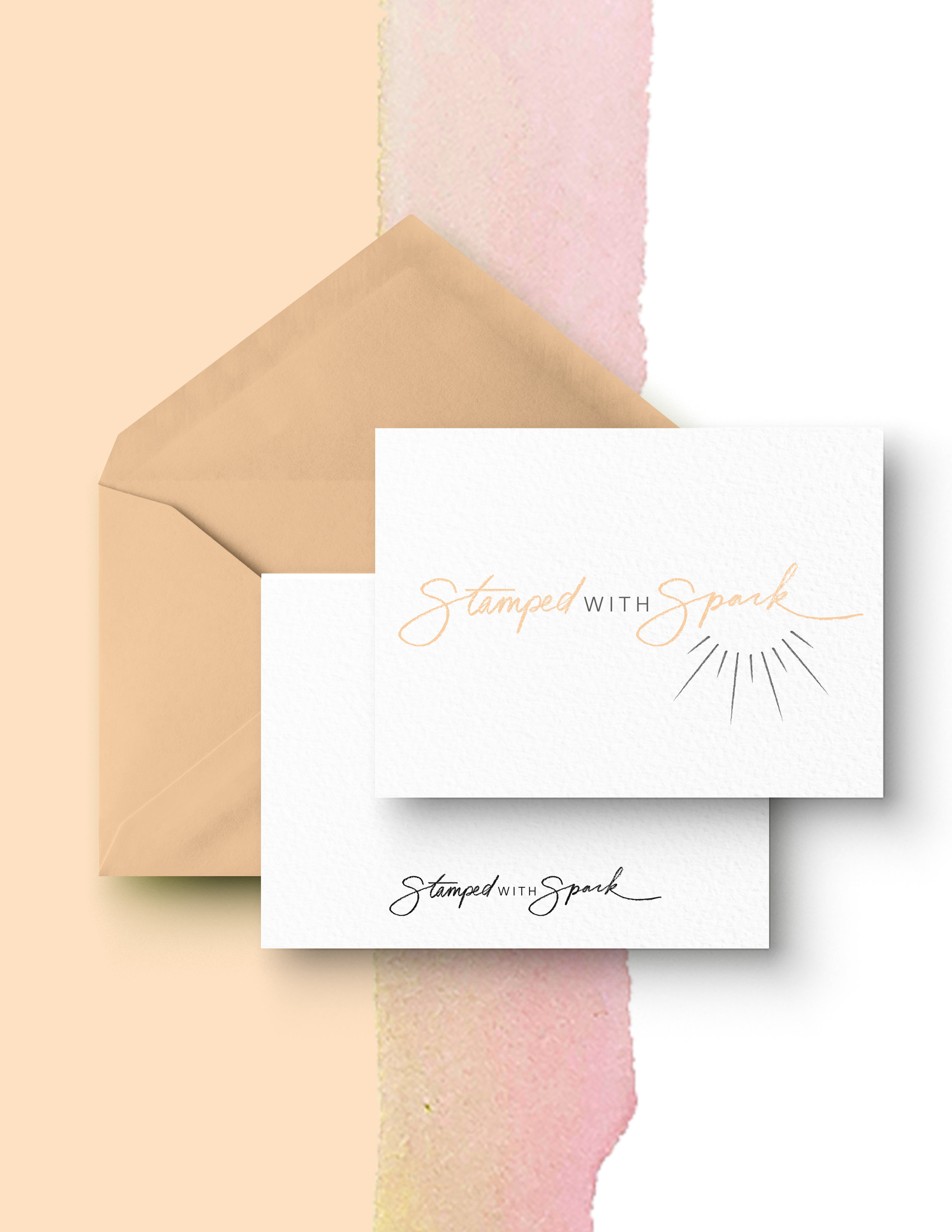Stamped with Spark: Empowerment Blog   Logo design featuring custom hand lettering