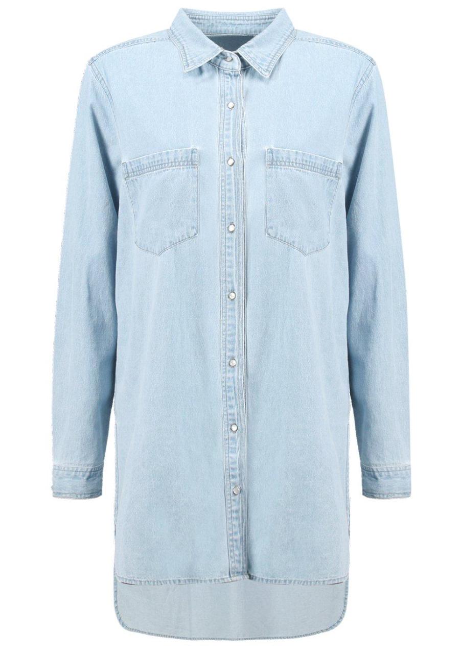 Boohoo Oversized Boyfriend Denim Shirt