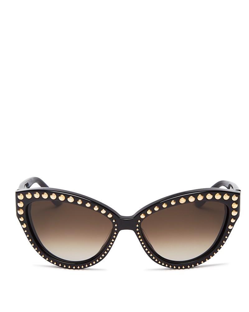 Moschino Studded Cateye Sunglasses