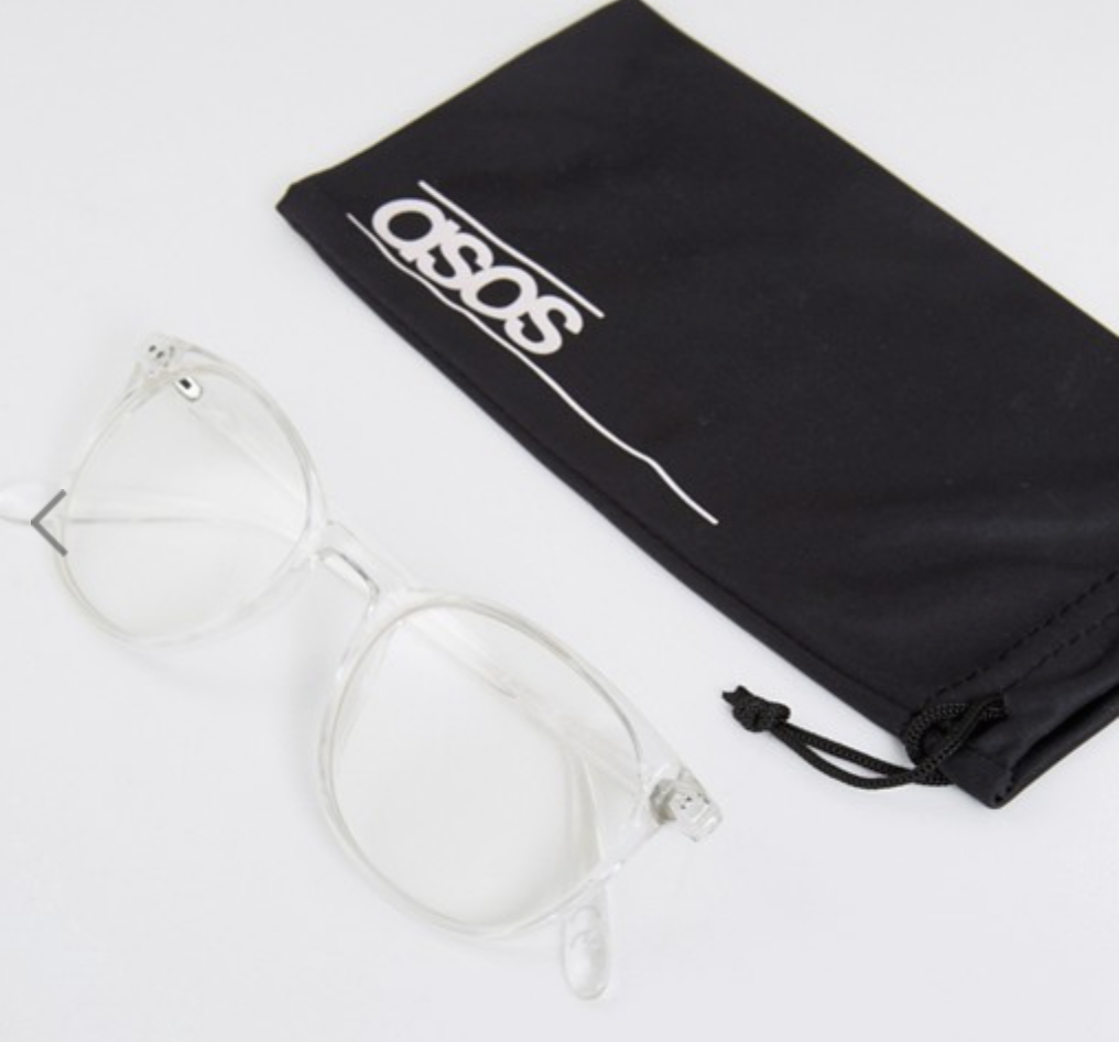 ASOS Geeky Clear Frame Glasses