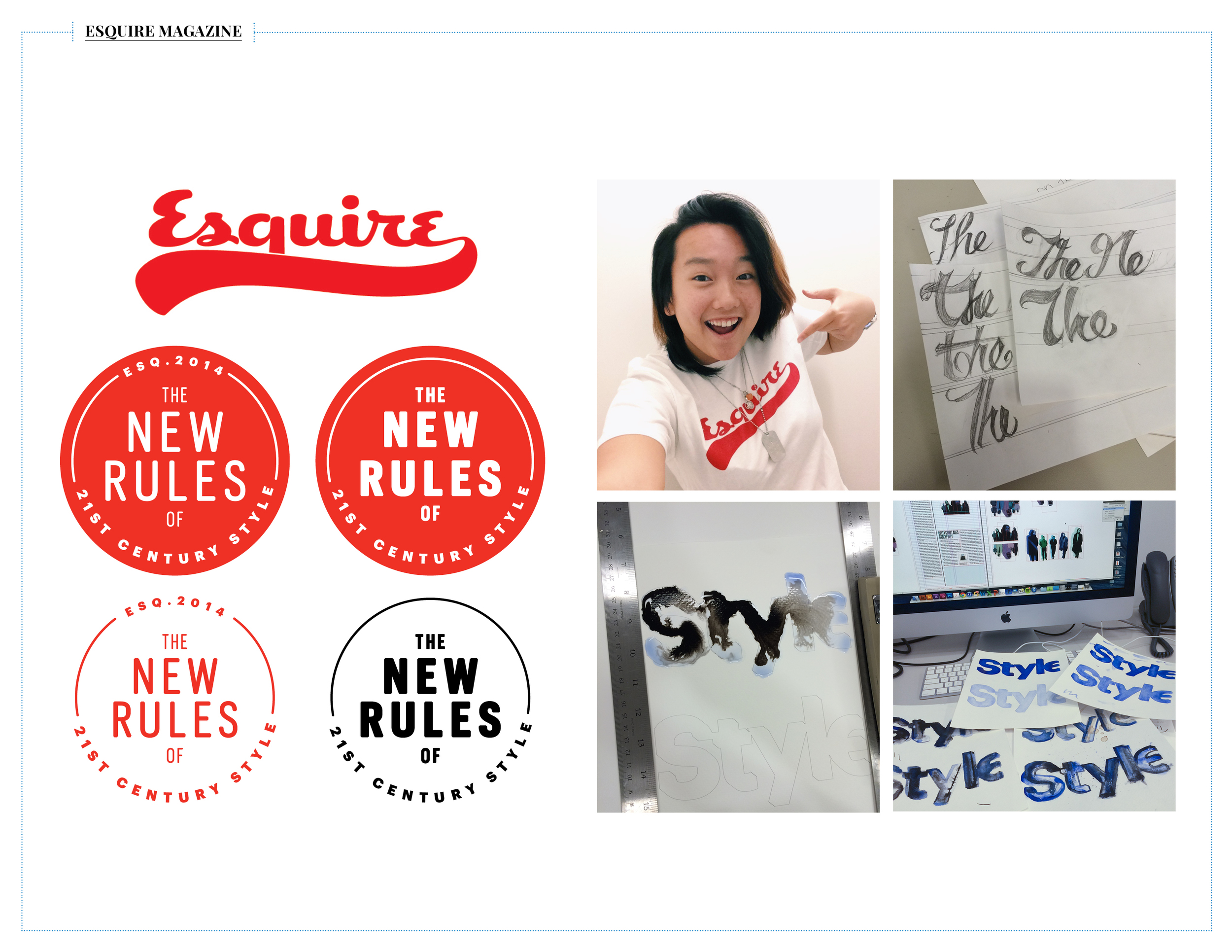 I was given a variety of assignments that ranged from designing their company baseball league t-shirt todesigning headers and seals for their monthly Style section.