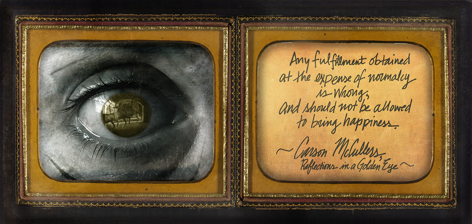 """Southern Gothic Daguerreotype of Carson McCullers' """"Reflections in a Golden Eye"""""""