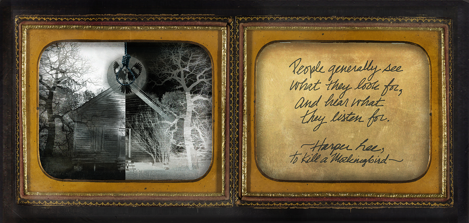 """Southern Gothic Daguerreotype of Harper Lee's """"To Kill a Mocking Bird"""""""