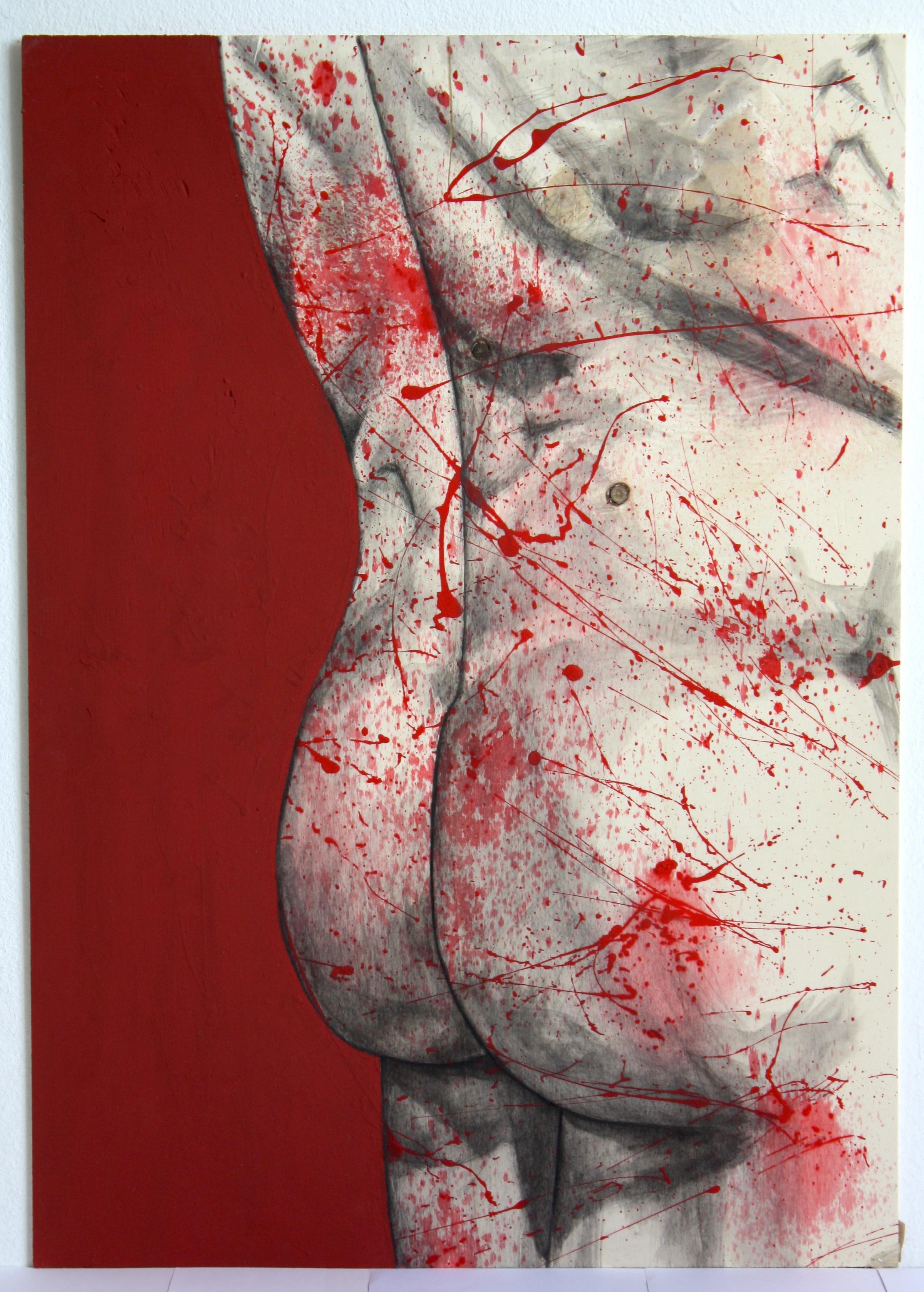 Pollock'd Backside, Red