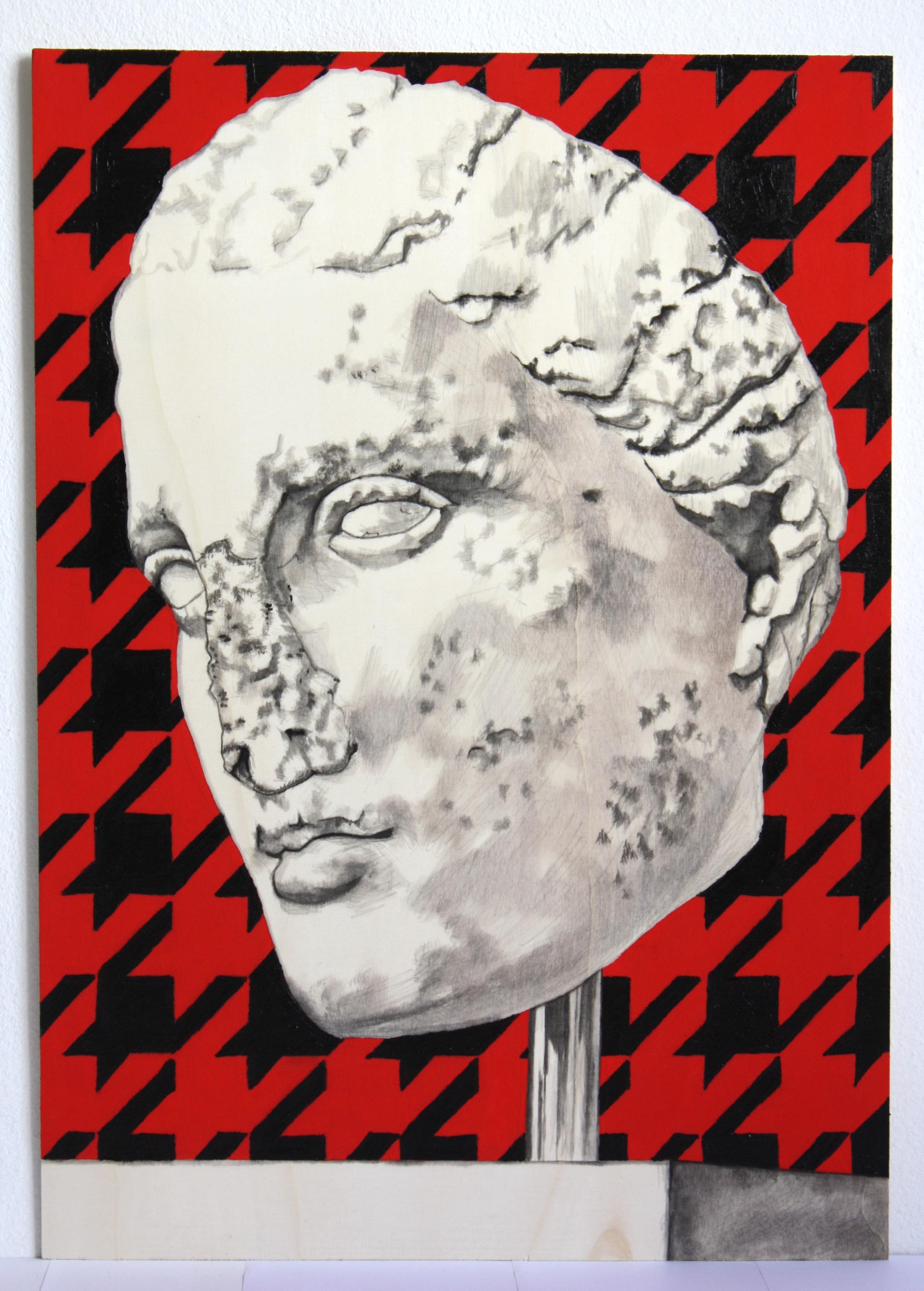 Black on Red McQueen'd Woman's Head