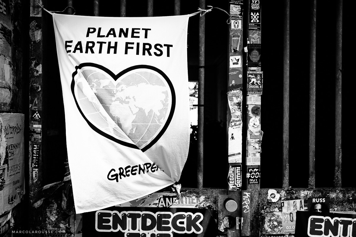 "Many protest banners are also aimed towards environmental protection. Instead of ""XYZ Nation First"" they want to see ""Planet Earth First""."