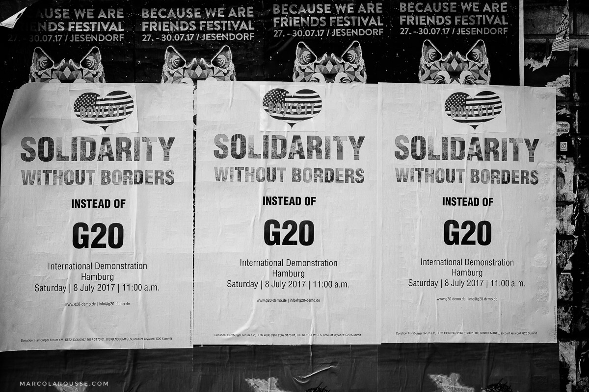 Alternative G20 events revolve around solidarity without borders and friendship as opposed to hate.