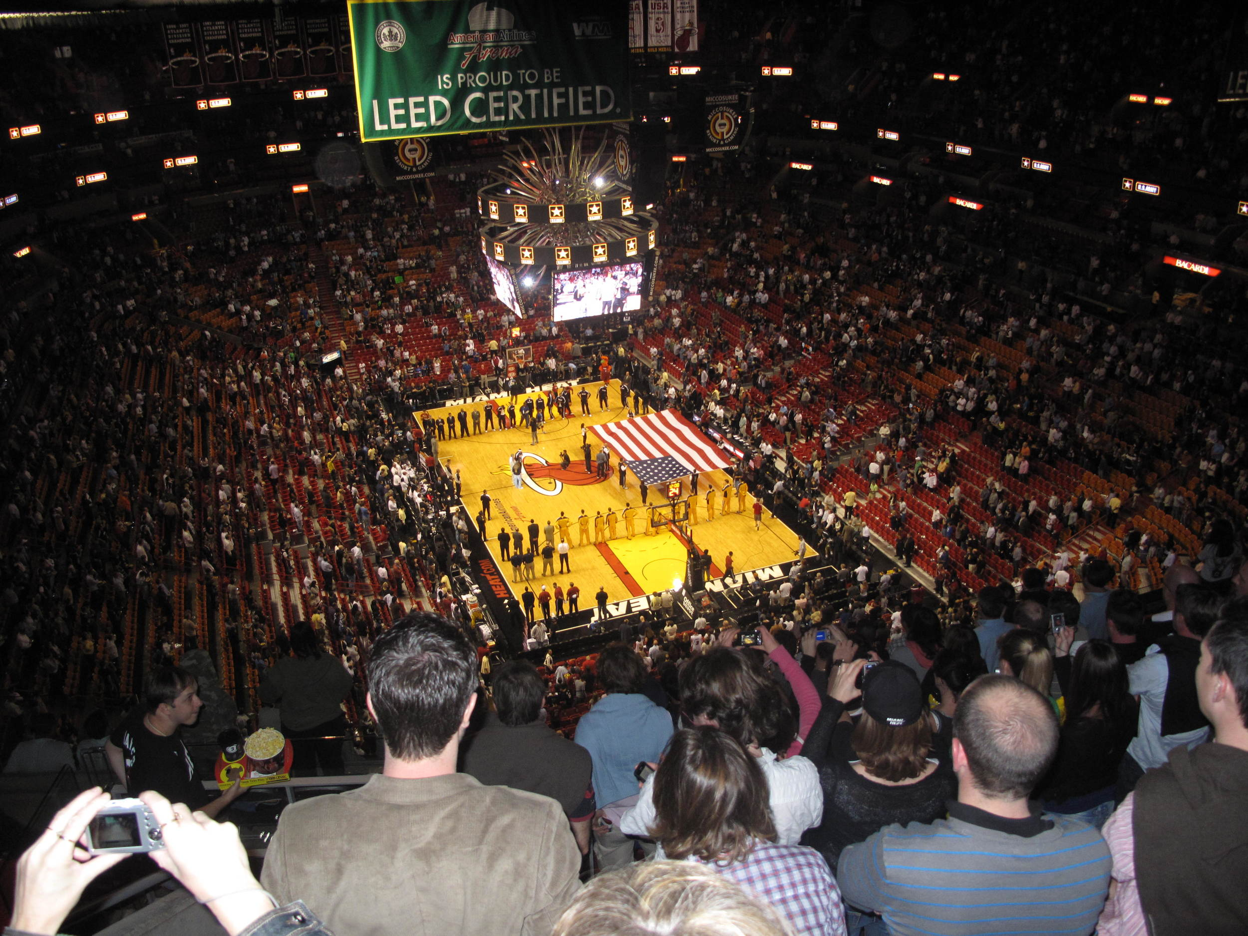 The Heats Playing at the famous AA Arena