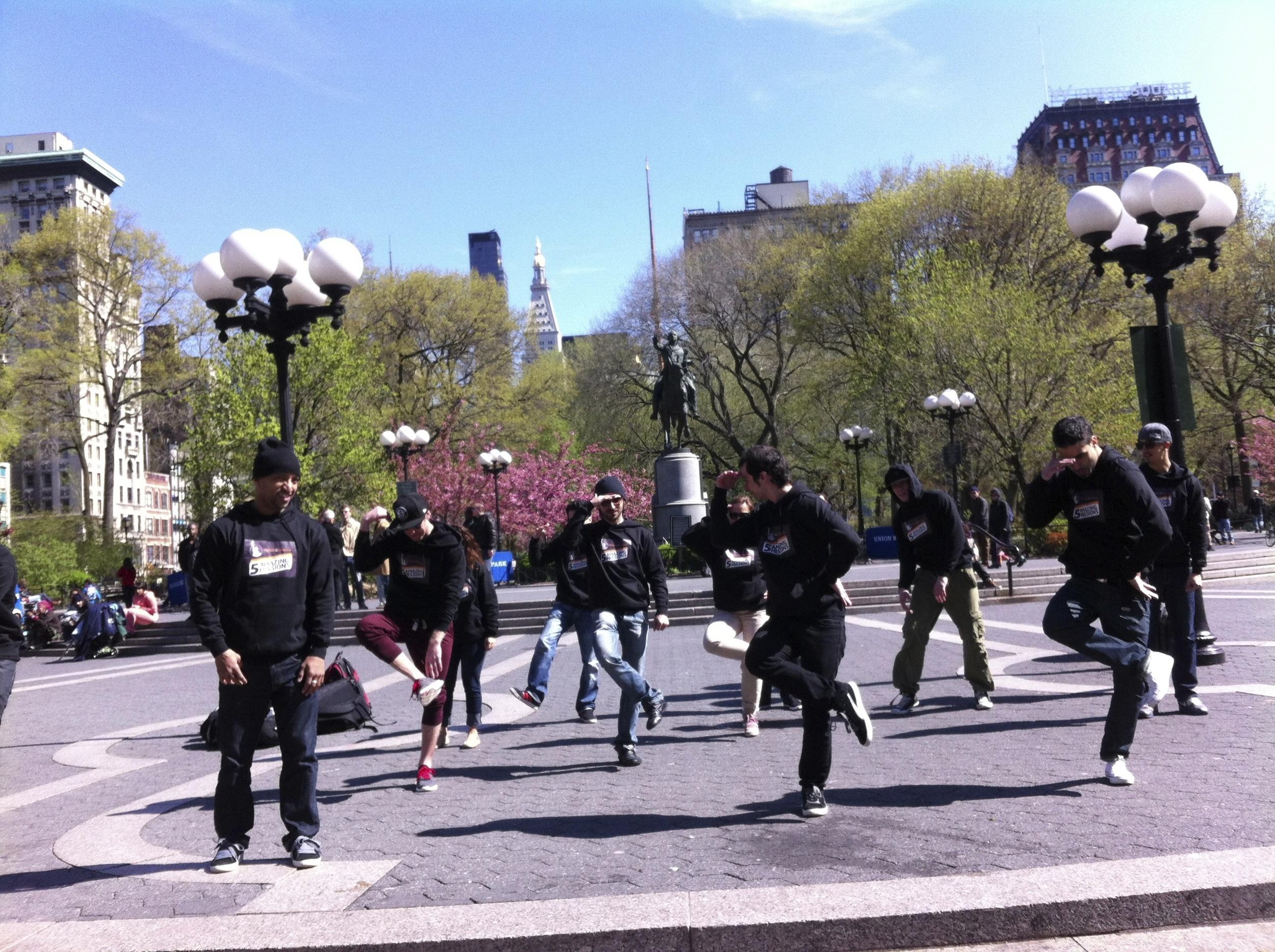 Un flashmob à Union Square, NYC