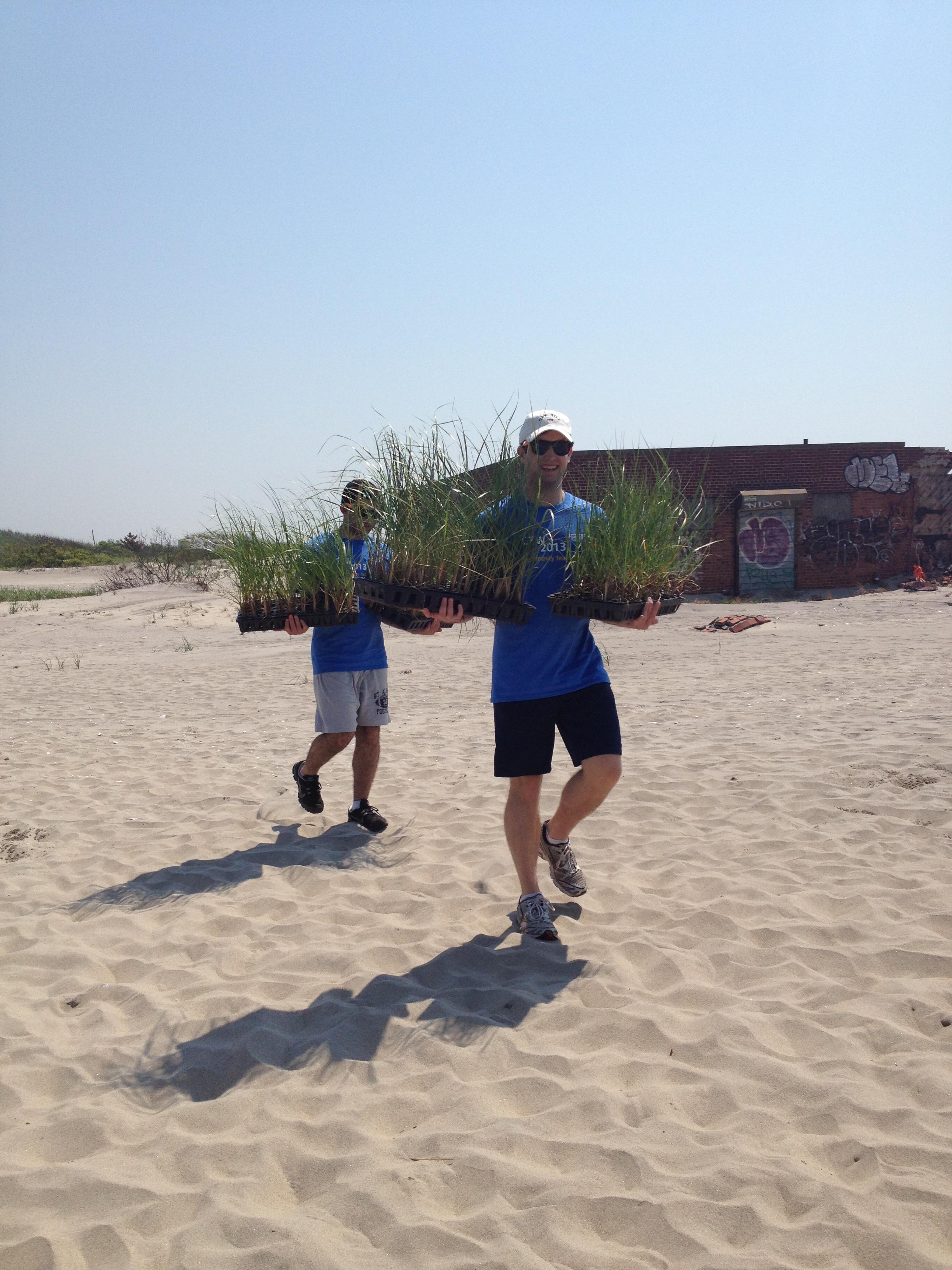 Volunteering at Rockaway Beach after hurricane Sandy