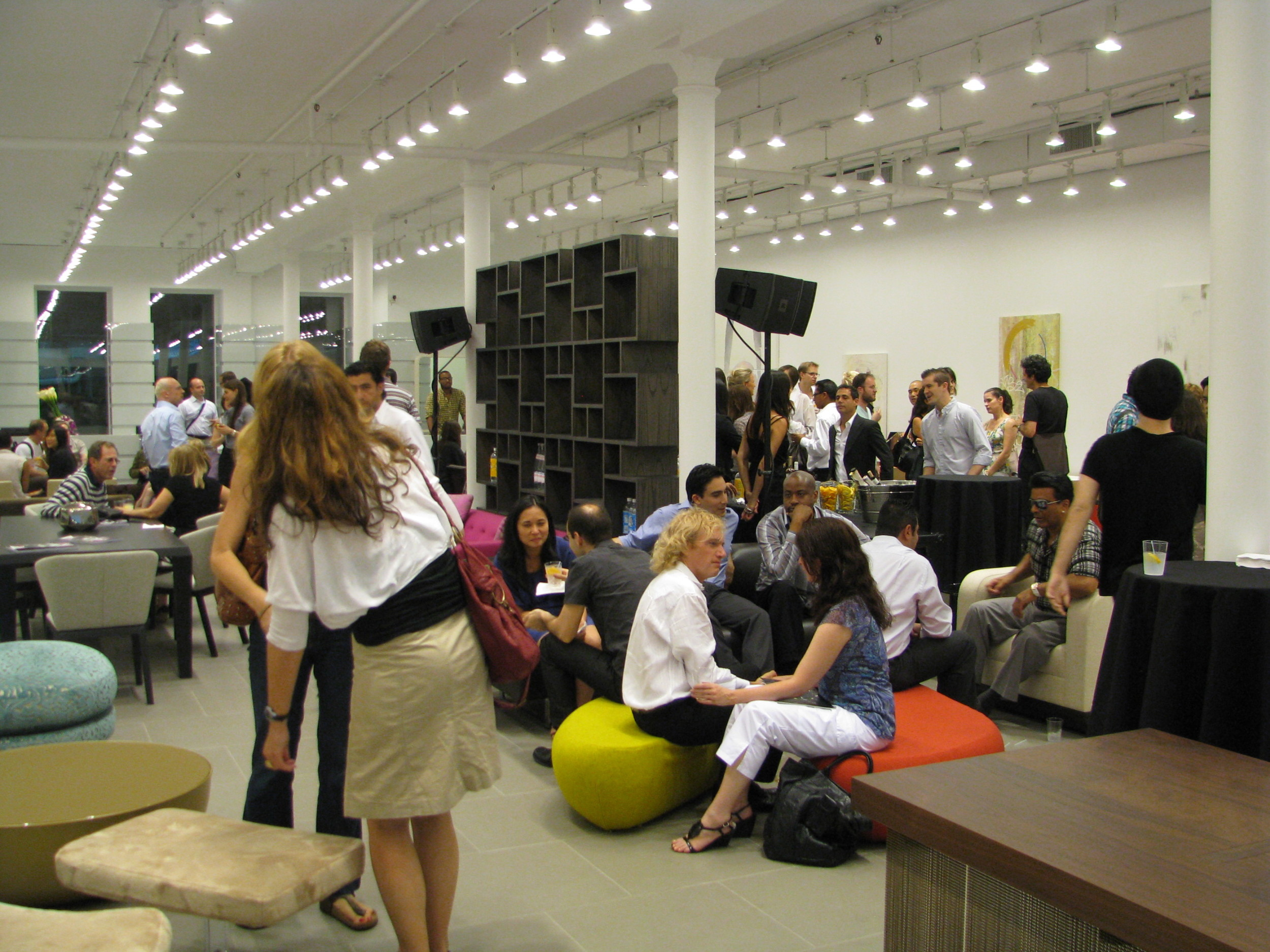 A product launch event in New York