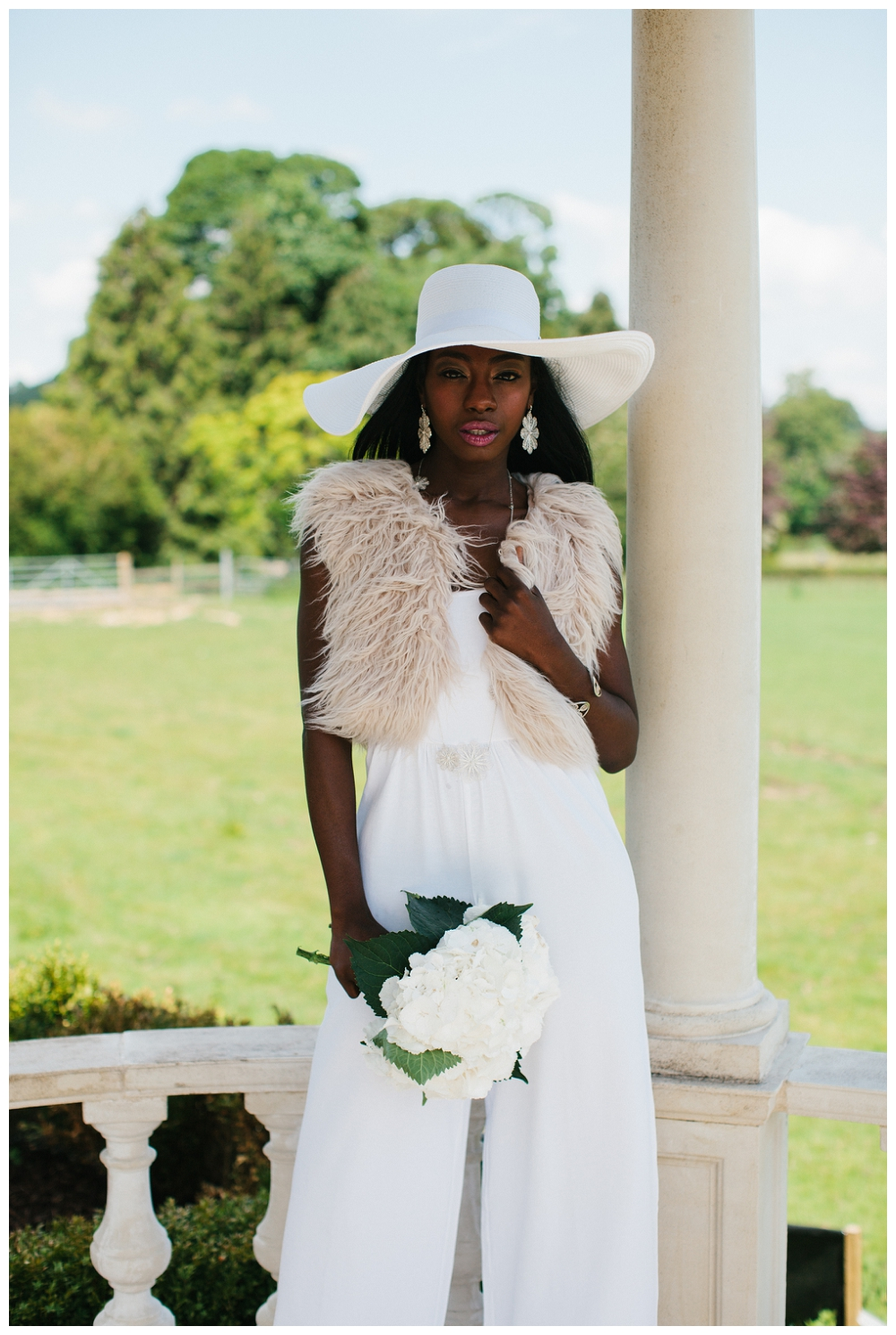 Style & on a budget! Jumpsuit by ASOS,jacket from House of Fraser and the hat is Debenhams. Jewellery by Arabel Lebrusan. Styled by Charlotte Munro, photography Alexandra Jane.