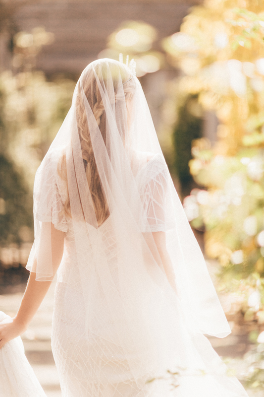 For a glamorous yet light-weight option, try a 100% silk tulle veil, designed for you by Ann Guise Silk Veils