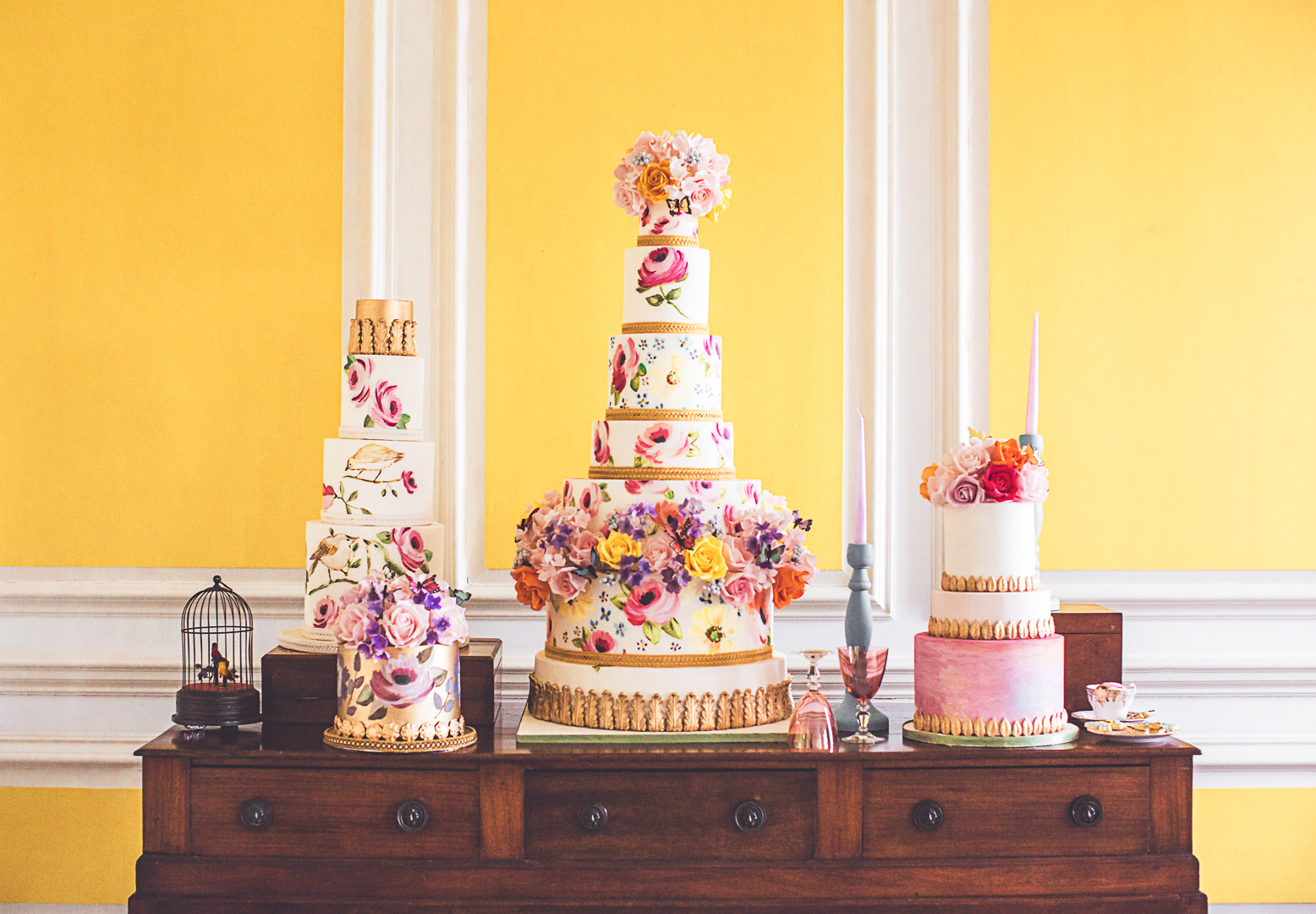 Charlotte Munro's list of Whimsical Wedding Cakes. Elizabeths Cake Emporium, shot by Photography by Anna Marie at Poundon House