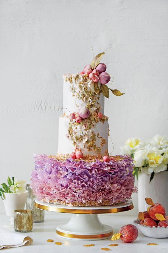 This sugar plum fairy inspired cake by Maggie Austin Cakes is full of fun and whimsy