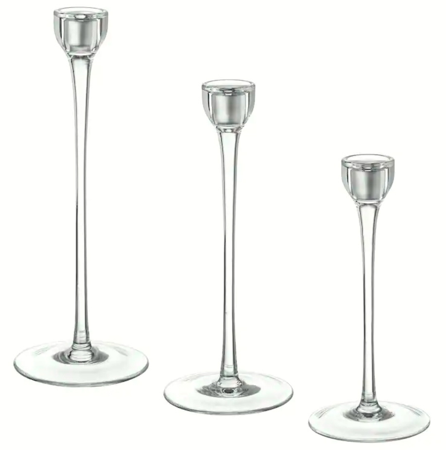 Glass Taper Candle Holders - 60 Available