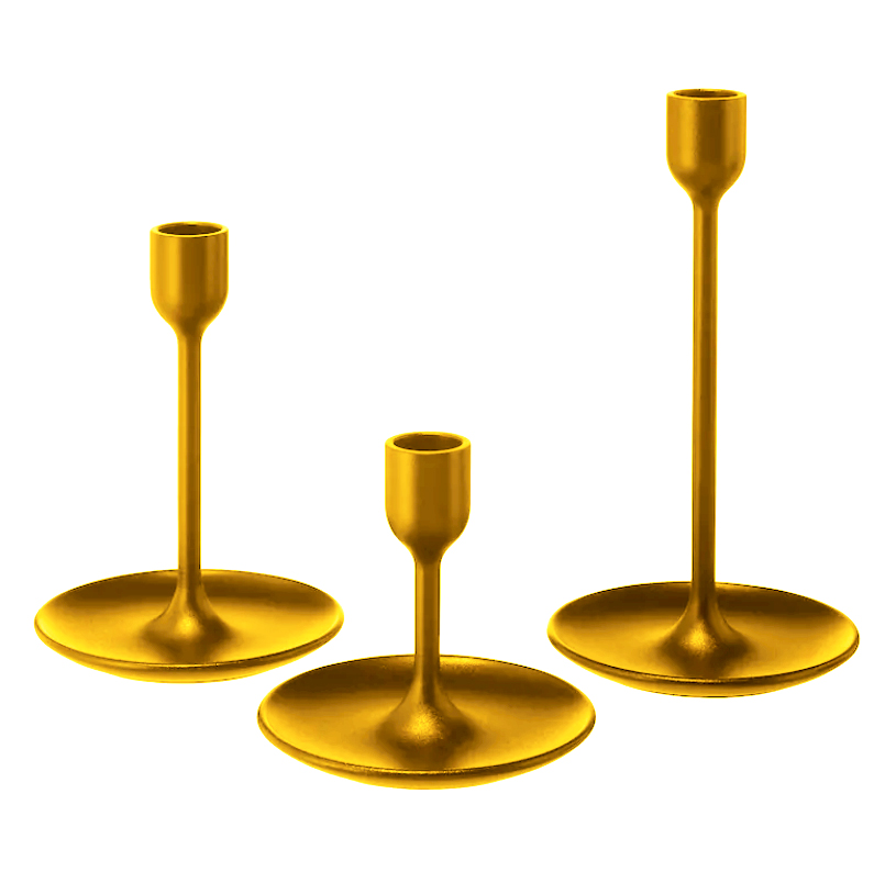 Gold Metal Candle Holders - 45 Available