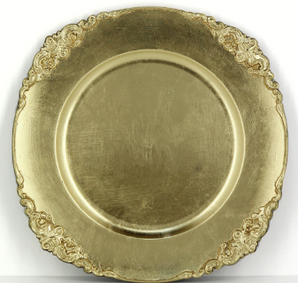 Gold Baroque Melamine Charger -
