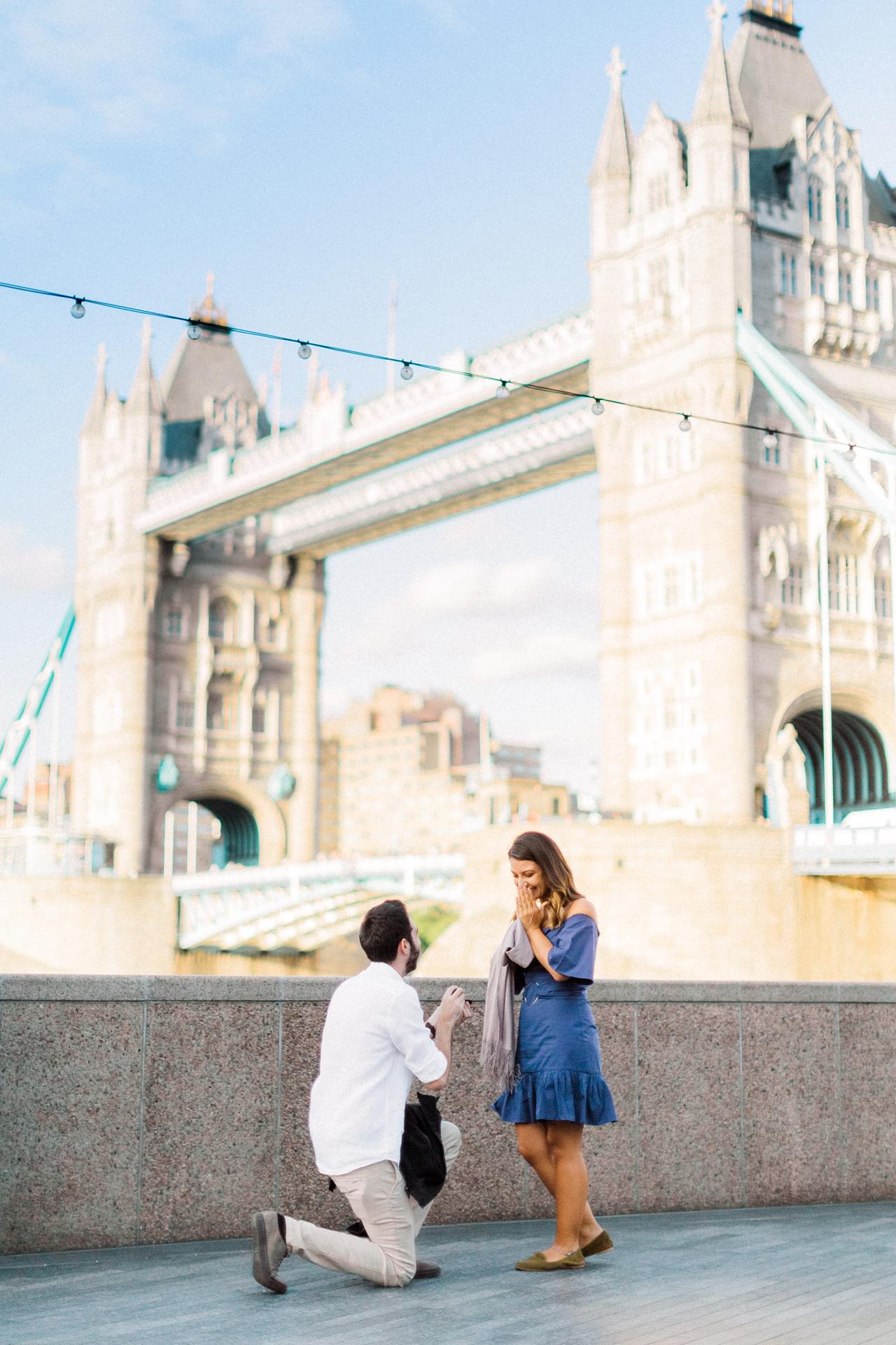 Proposal Planning - Tower Bridge London Proposal - Charlotte Munro Weddings - Sanshine Photography