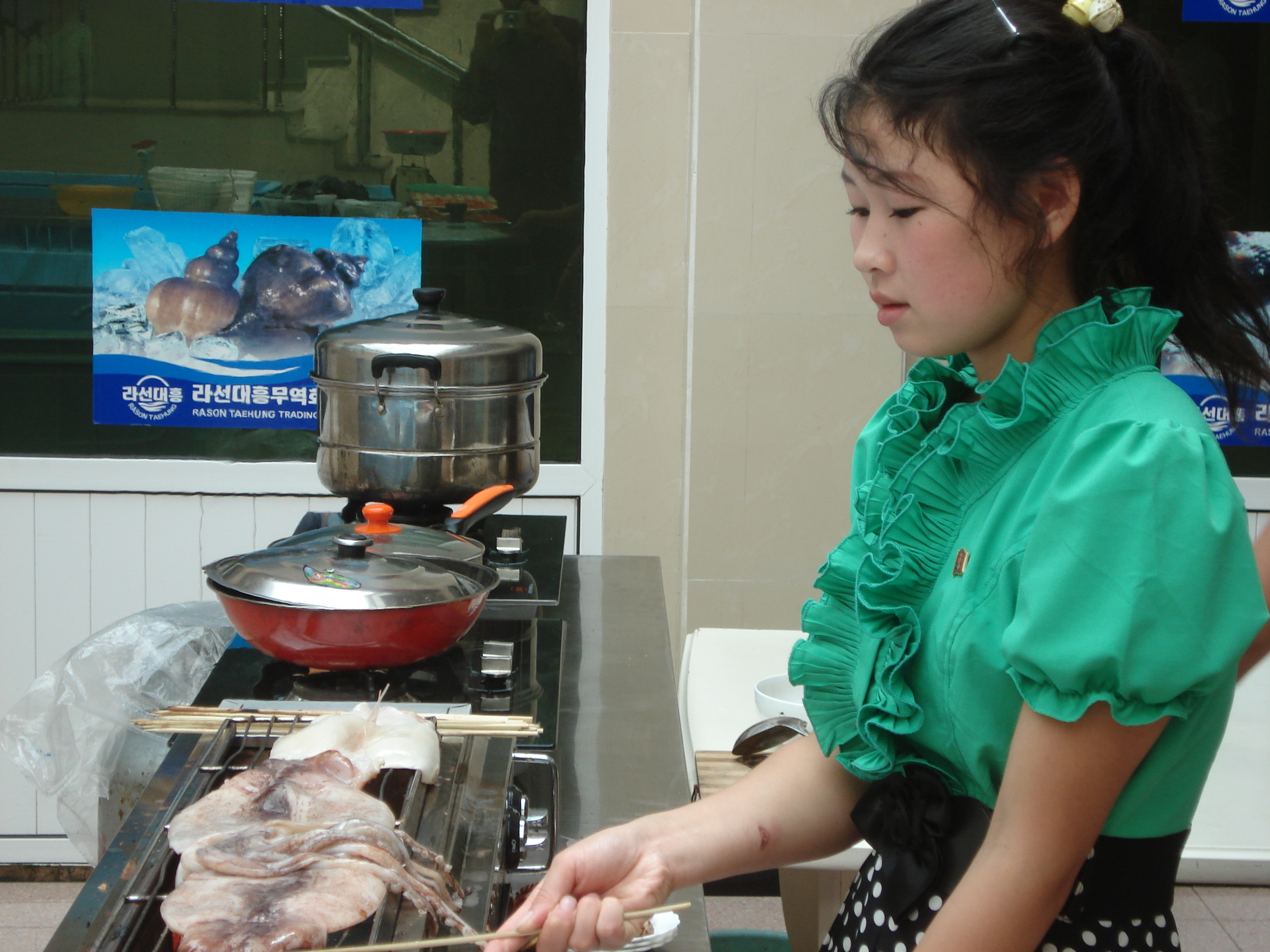 Taehung Company in Rason does seafood processing and will grill you up a mean cuttlefish if you visit.