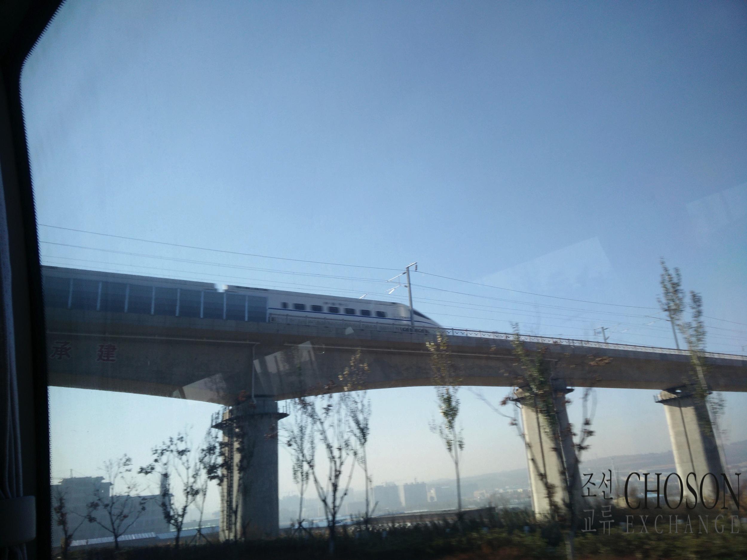 Train leaving Yanji towards Tumen