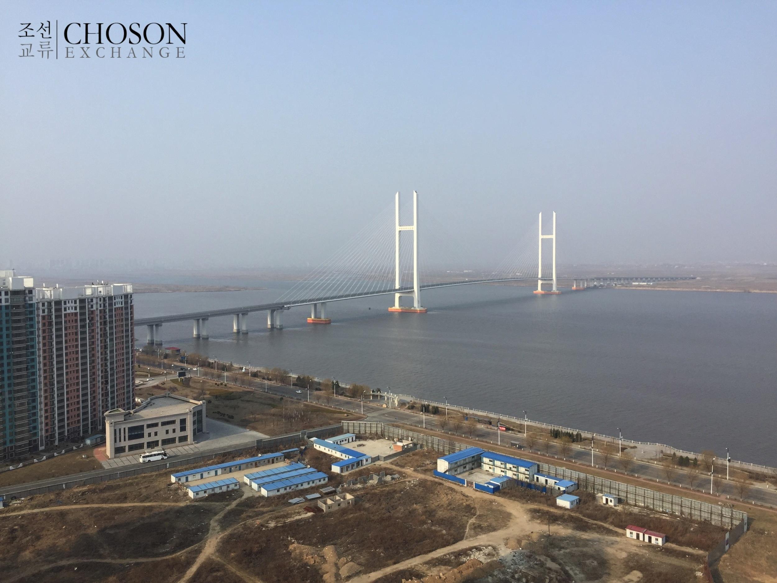 View from Singapore City of the Sino-DPRK Friendship Bridge