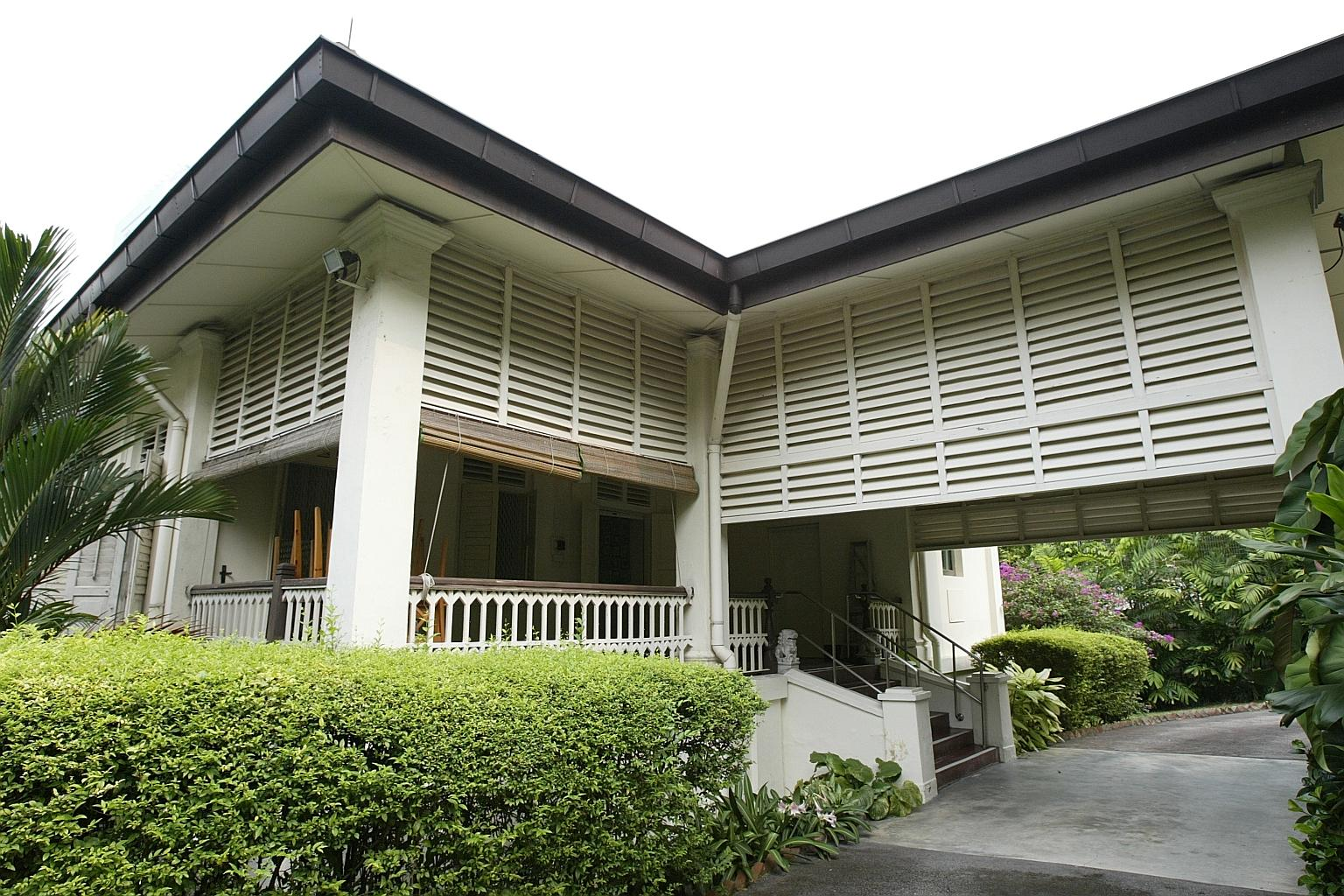 Lee Kuan Yew's old house at Oxley Road