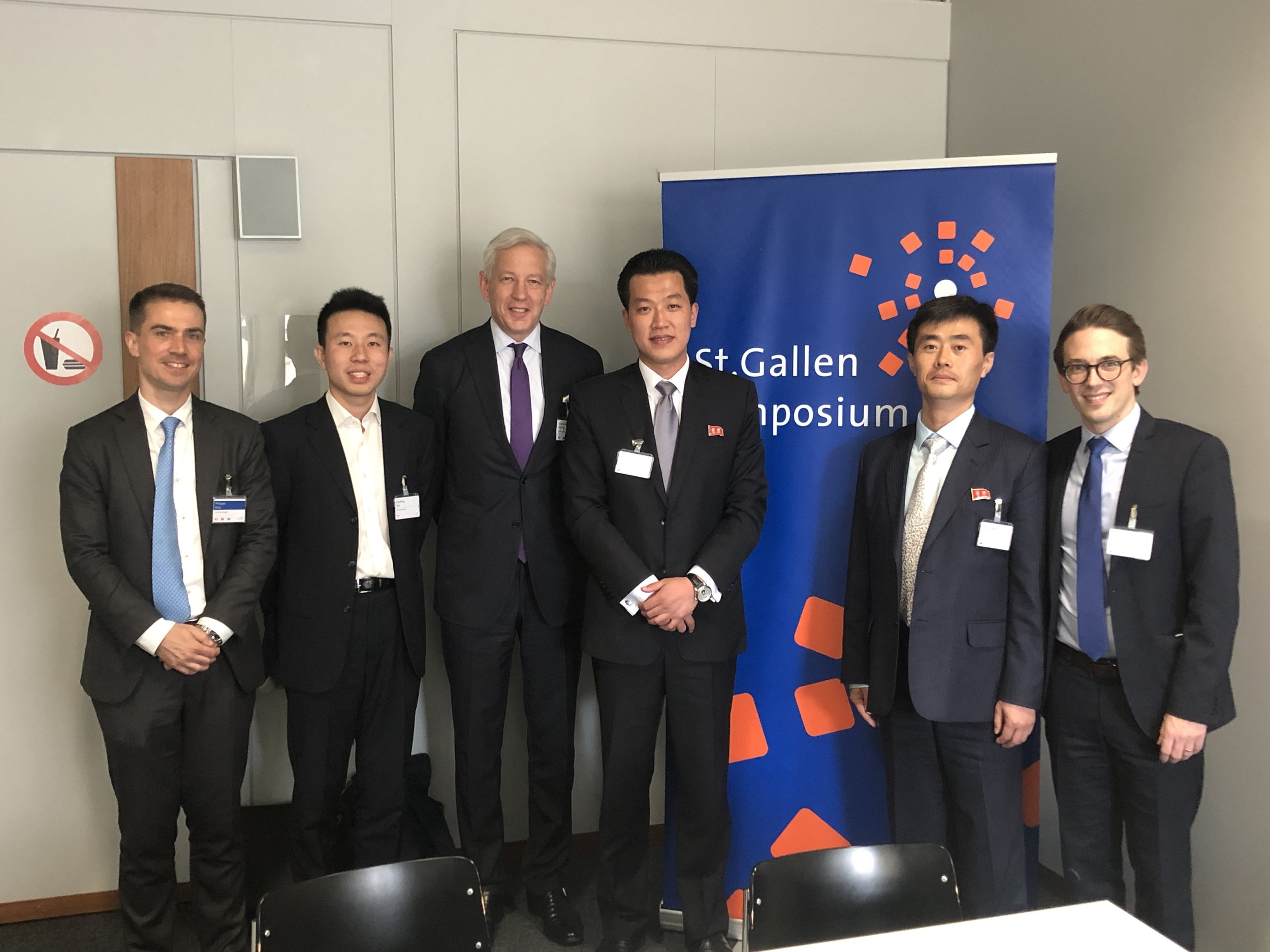 Dominic Barton, Chairman of the St Gallen Symposium and former Global Managing Director at McKinsey gave a warm welcome to Choson Exchange volunteers and our DPRK guests. We are joined by St Gallen Symposium Foundation staff who helped us make this dialogue happen.
