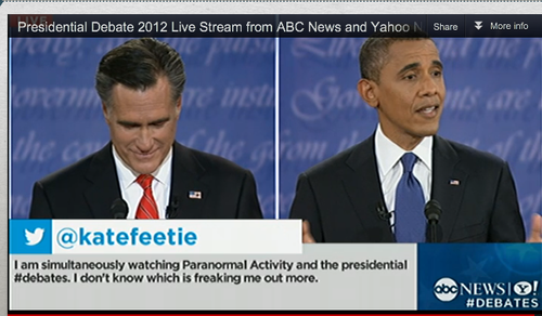 ABC featured one of my tweets during the 2012 presidential debates.