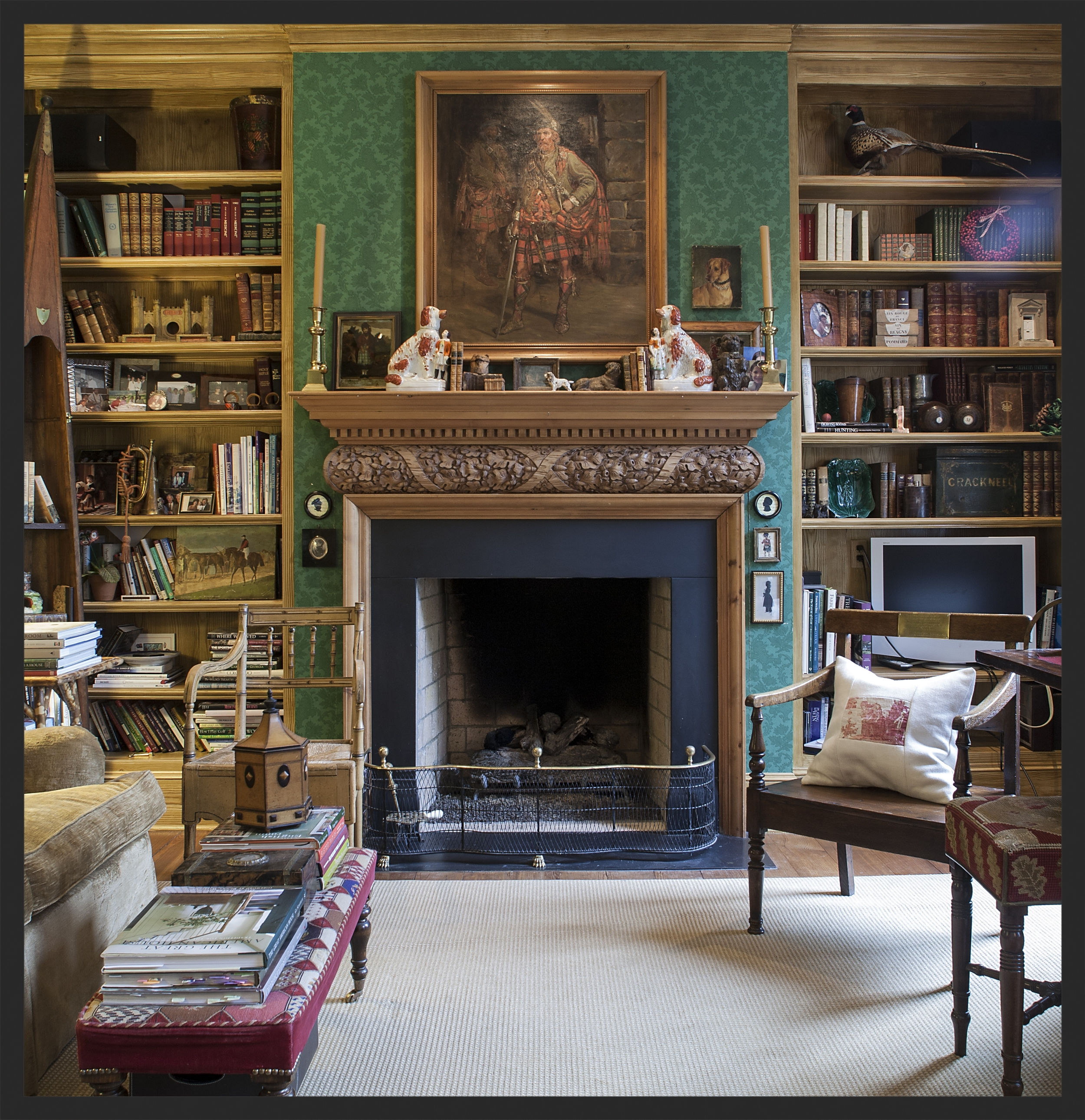 Room filled with Scottish and English antiques.  Linda Kay McCloy - alittleenglishinteriors.com