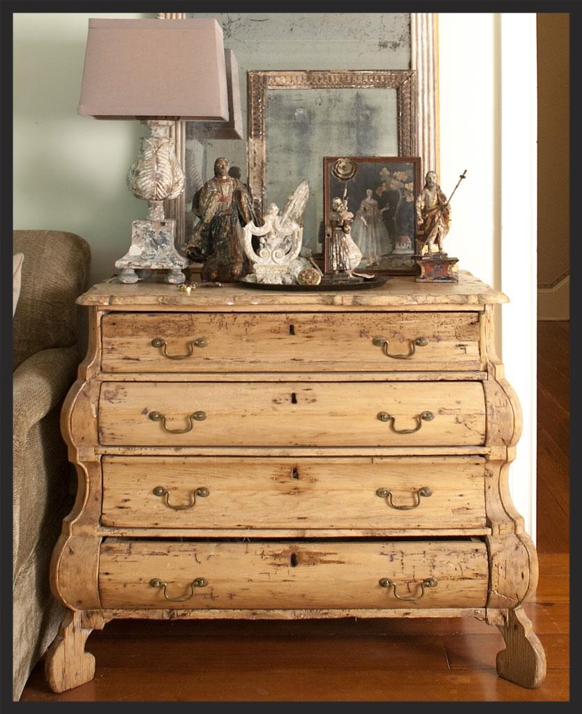 Dutch pine chest.  Linda Kay McCloy - alittleenglishinteriors.com