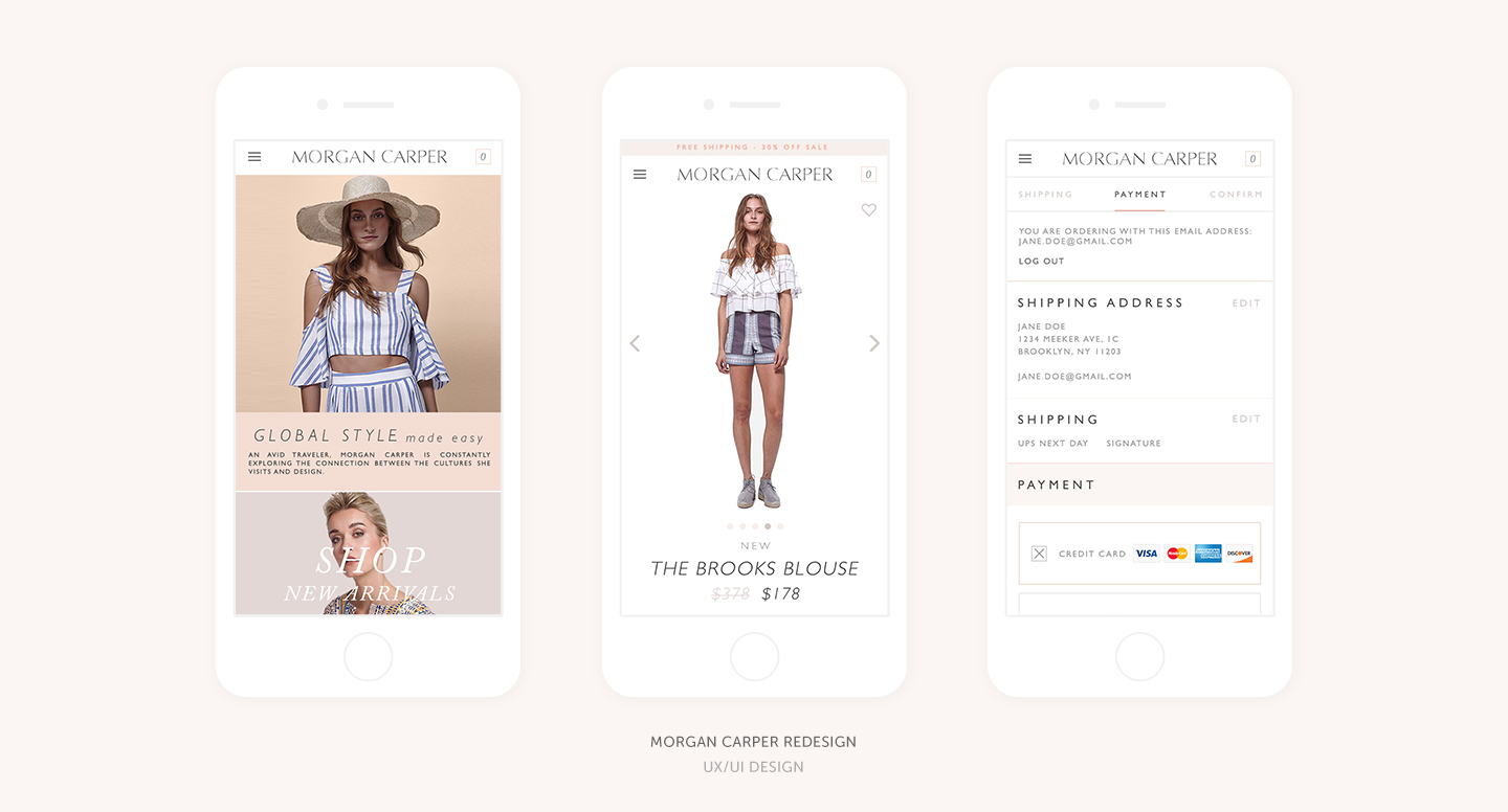 Morgan Carper E-Commerce Site Redesign