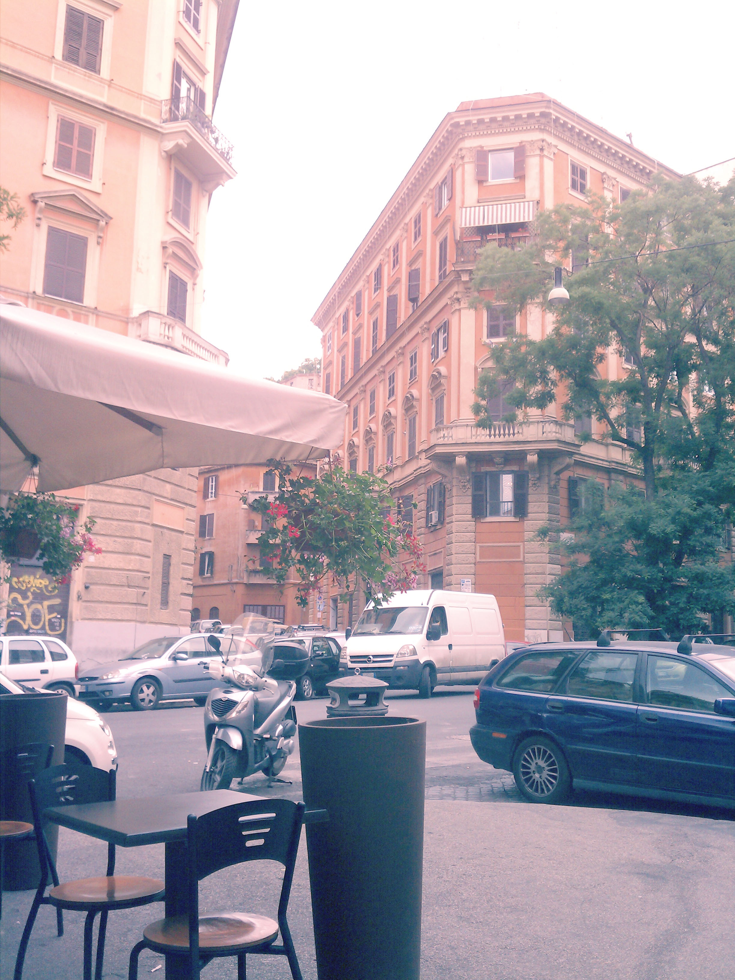 The street corner where I had my cappuccino every morning (if i wasn't running late for class).
