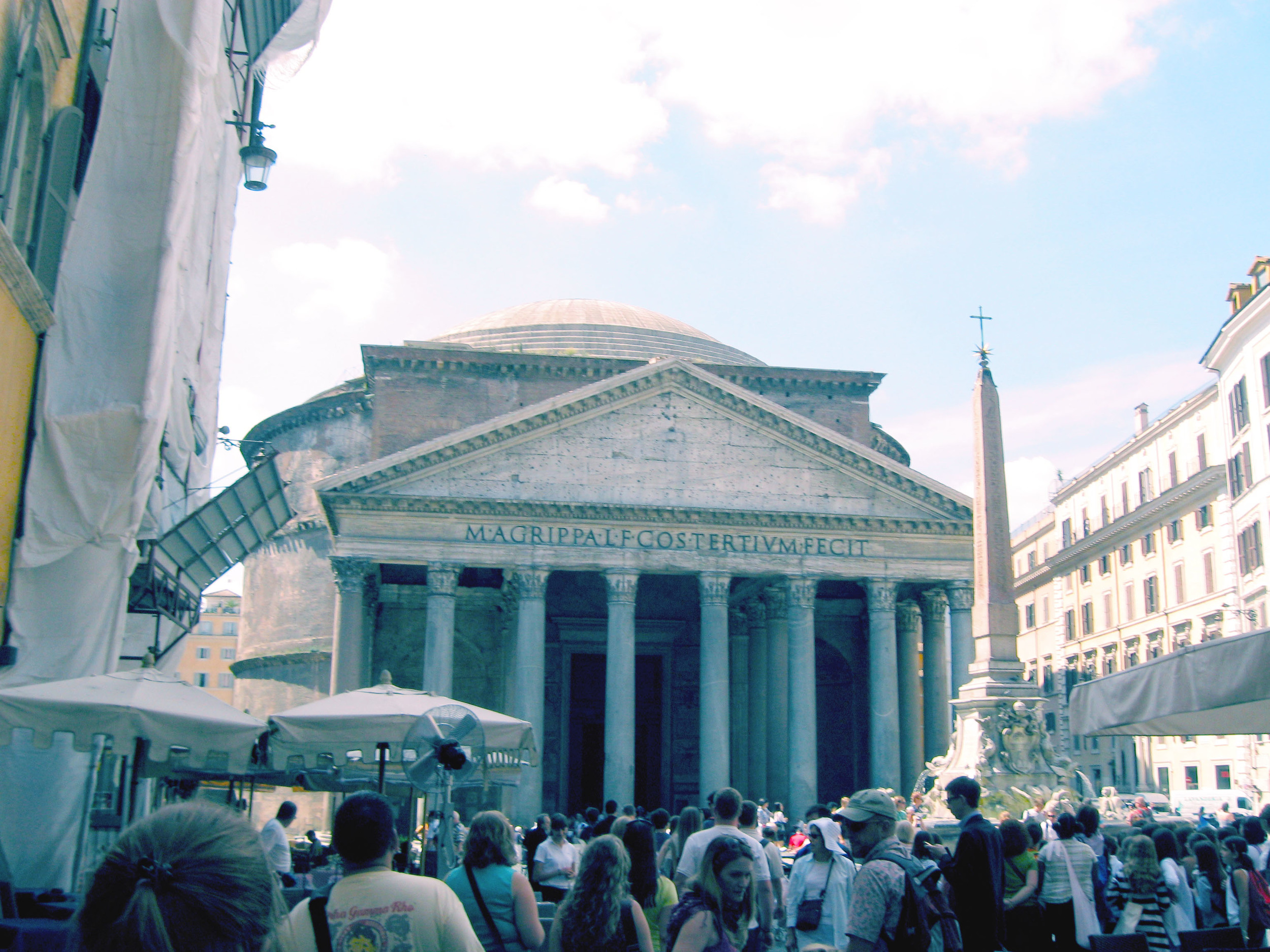 On our very first day of class, a building that needs no introduction. (But if you do its the pantheon.)