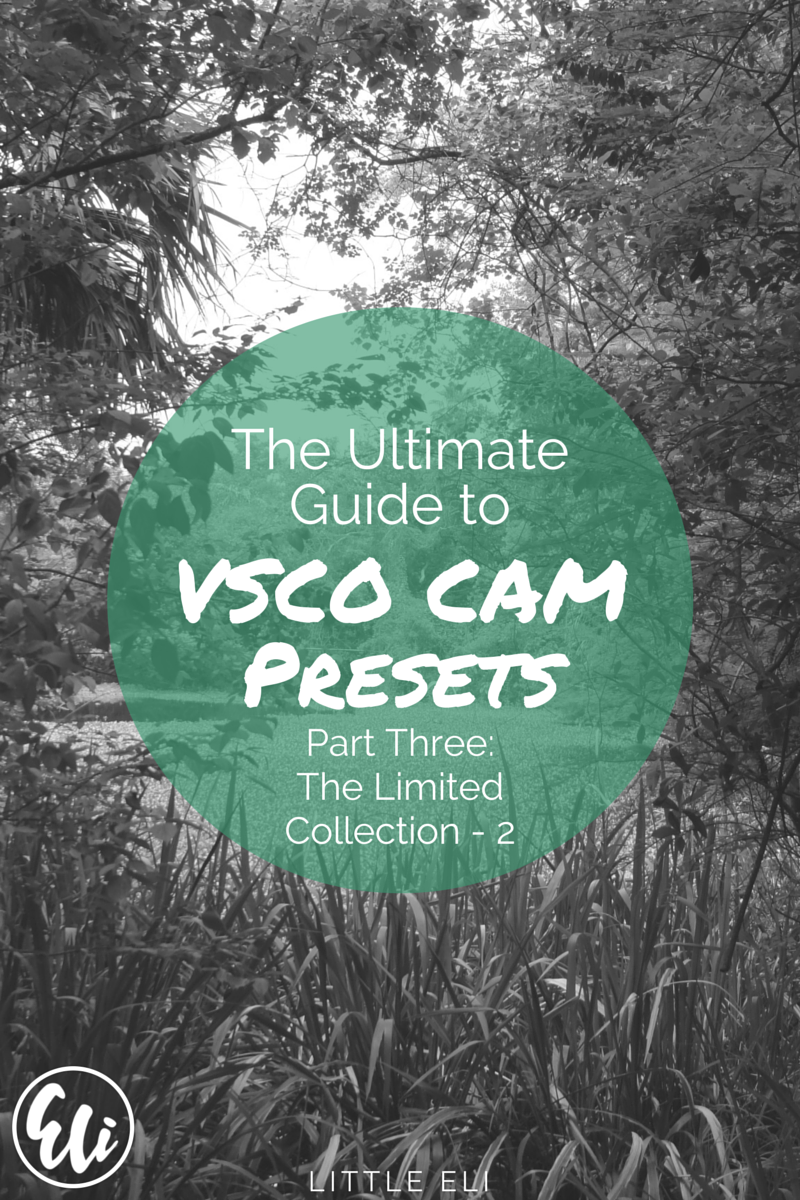 Ultimate VSCO Cam Guide. PART THREE. Limited Edition Collection - Little Eli