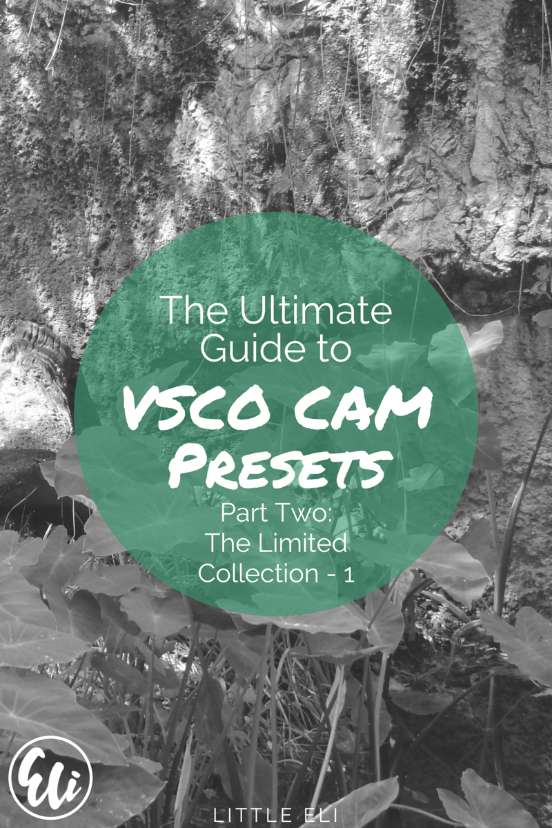 The Ultimate VSCO Cam Guide - Part Two - Limited Edition Collection Part 1 - Little Eli