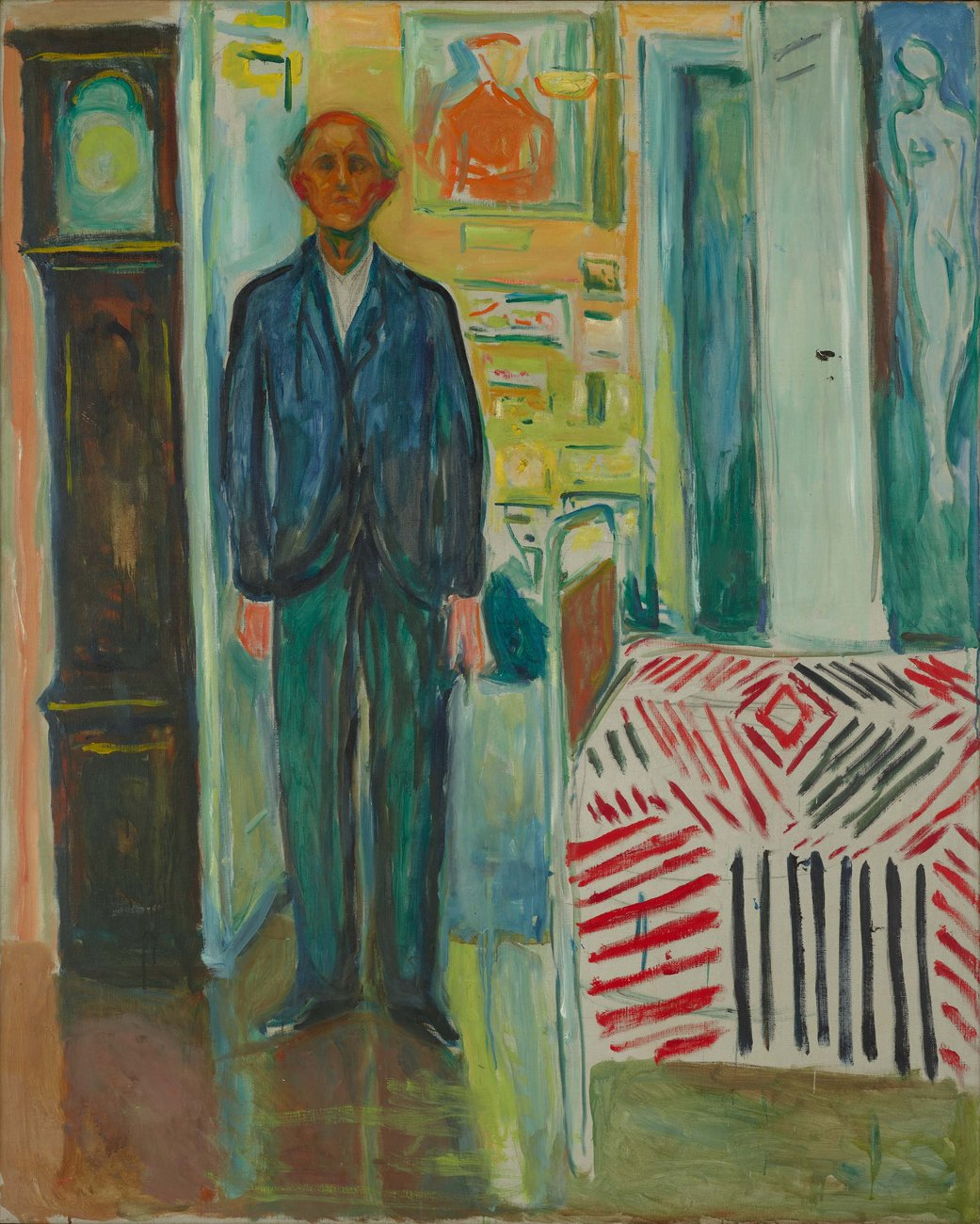 A master by the age of 30, Edvard Munch (1863–1944) was among the most celebrated and controversial artists of his generation. But, as he confessed in 1939, his true breakthrough came very late in life. Featuring 44 landmark compositions about art, love, mortality, and the ravages of time, Edvard Munch: Between the Clock and the Bed uses the artist's last significant self-portrait as a starting point to reassess a lifetime of painting. Together, these profoundly human and technically daring artworks reveal Munch as a tireless innovator and an artist as revolutionary in his maturity as he was in his breakthrough years.